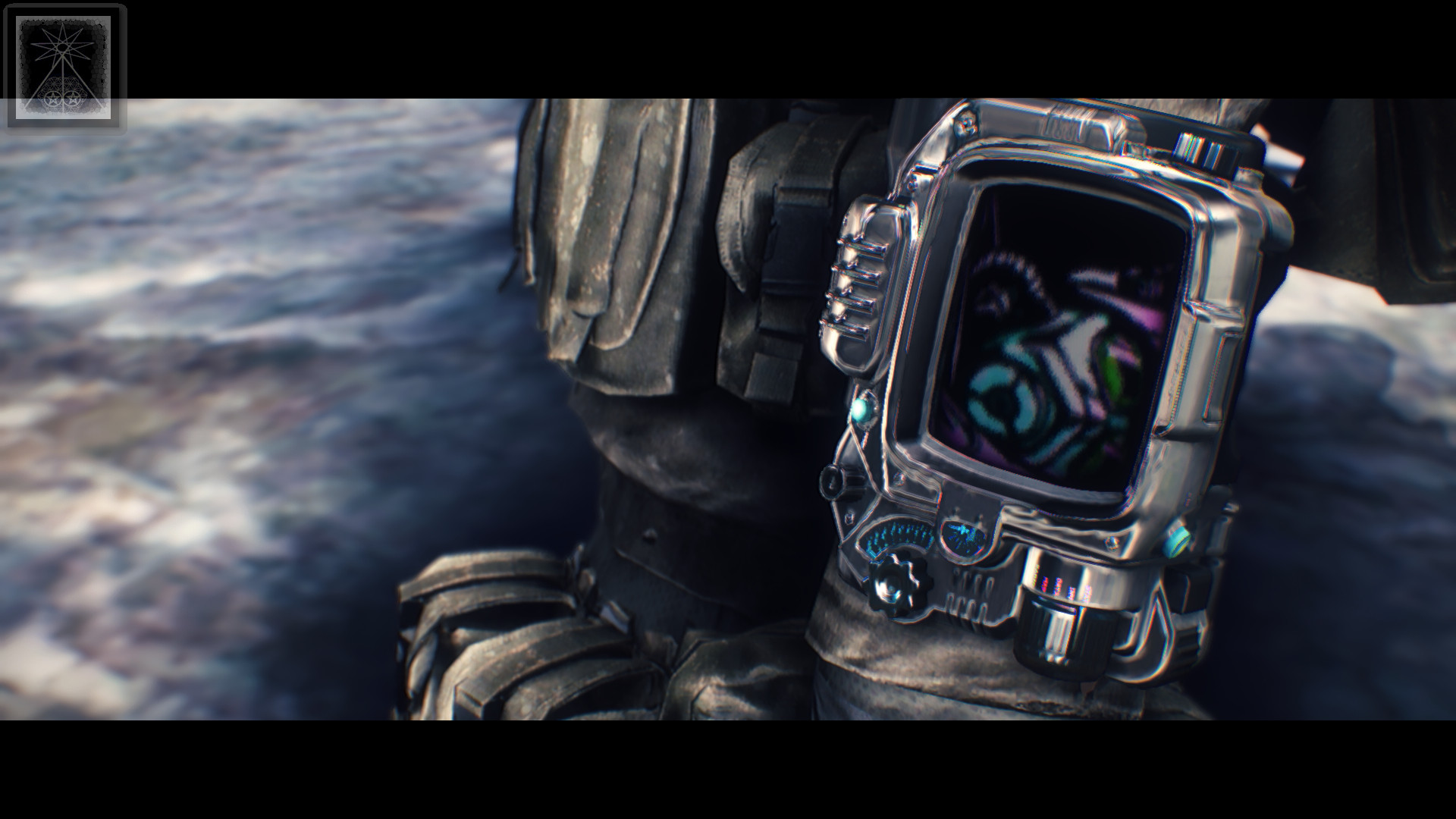 Synthwave Ranger – Pip Boy Wallpaper at Fallout 4 Nexus – Mods and community