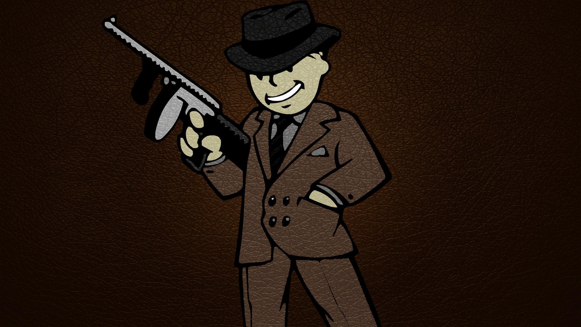 Photos Fallout Assault rifle vault boy Hat Games Costume 1920×1080