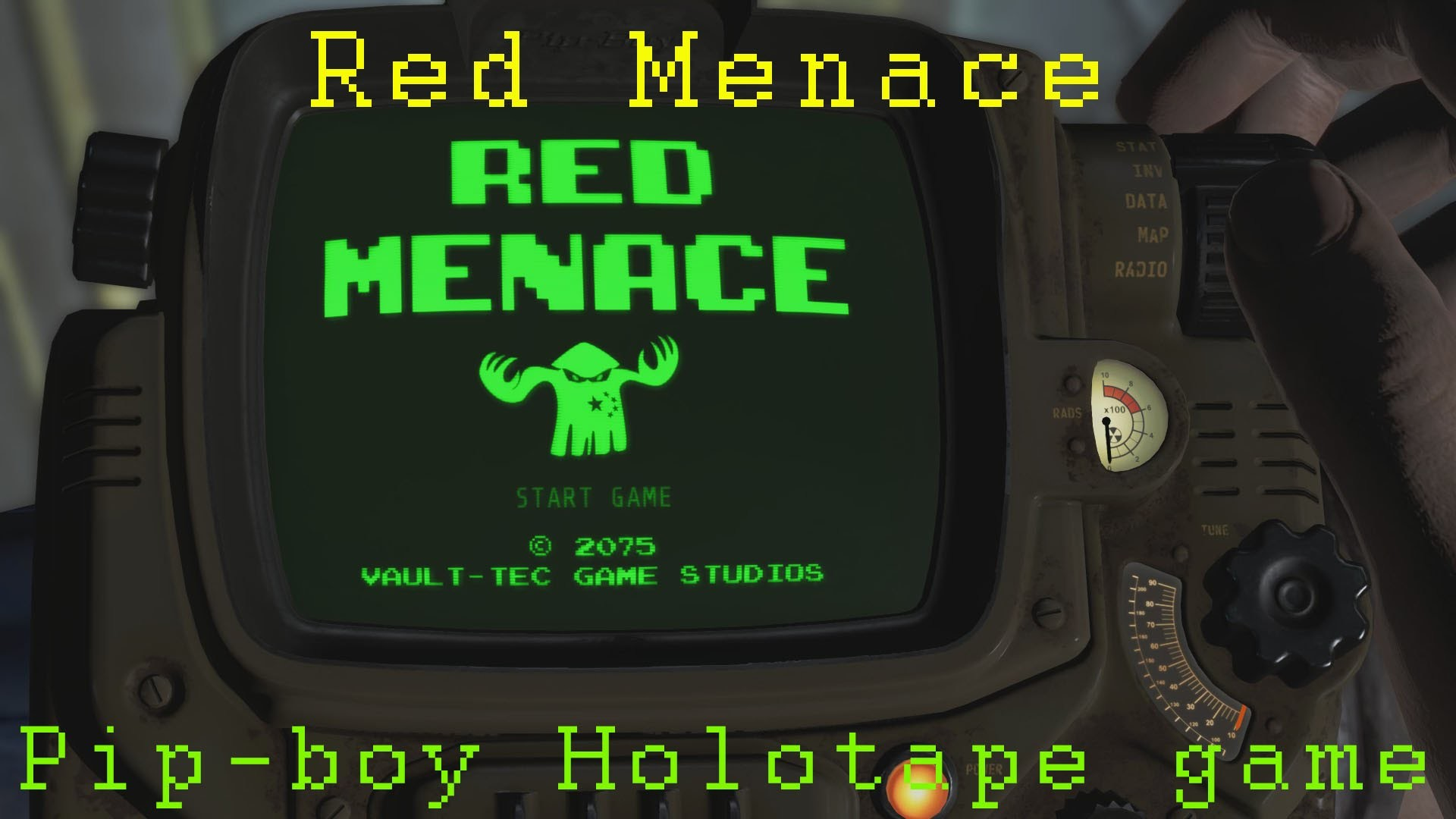Fallout 4: Pip-boy mini game Red Menace