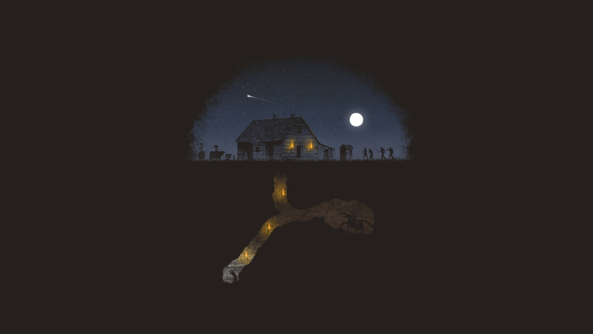 spider, Minimalism, Minecraft, Zombies. Half Life, Black Mesa Wallpaper HD