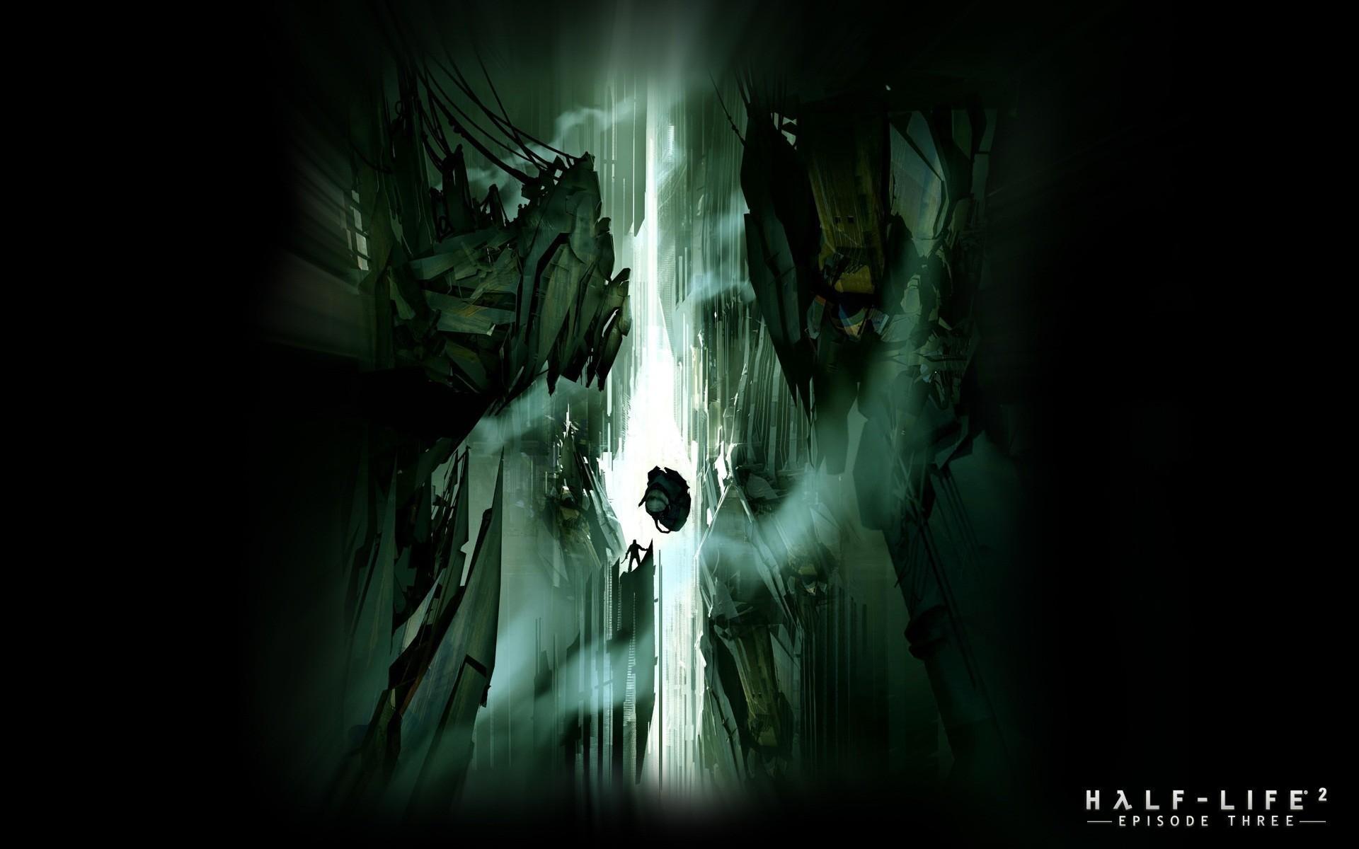 Black mesa halflife artwork cavern darkness wallpaper