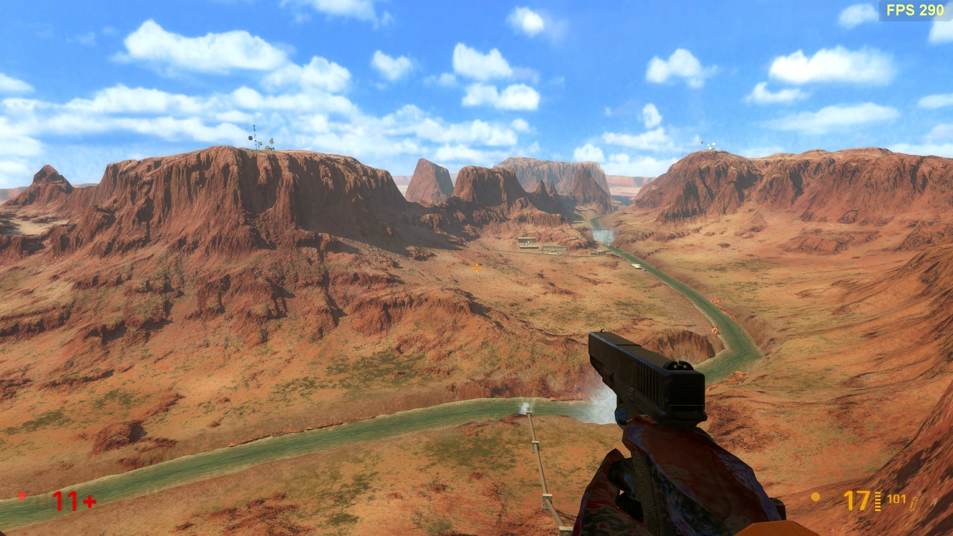 holy crap what a huge difference, this is the backdrop of the original  half-Life vs Black Mesa Source also the waterfall in the distance is even  animated.