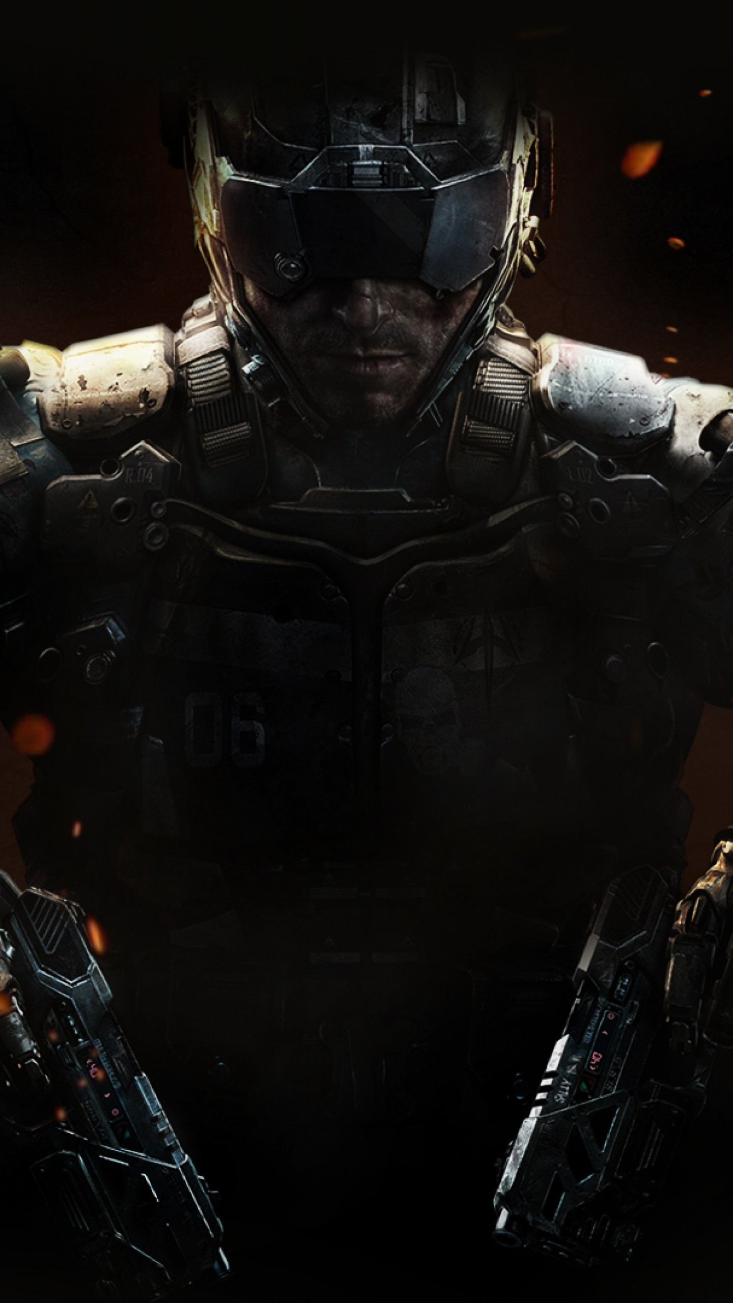Preview wallpaper call of duty, black ops 3, weapons, equipment 1440×2560