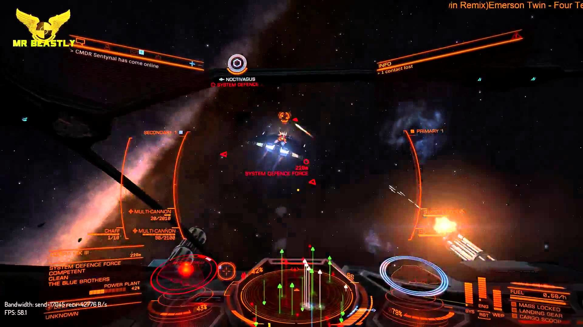 Elite: Dangerous v1.2 in 4K (streaming in 1080p) Testing WIngs with CMDR  Noctivagus!