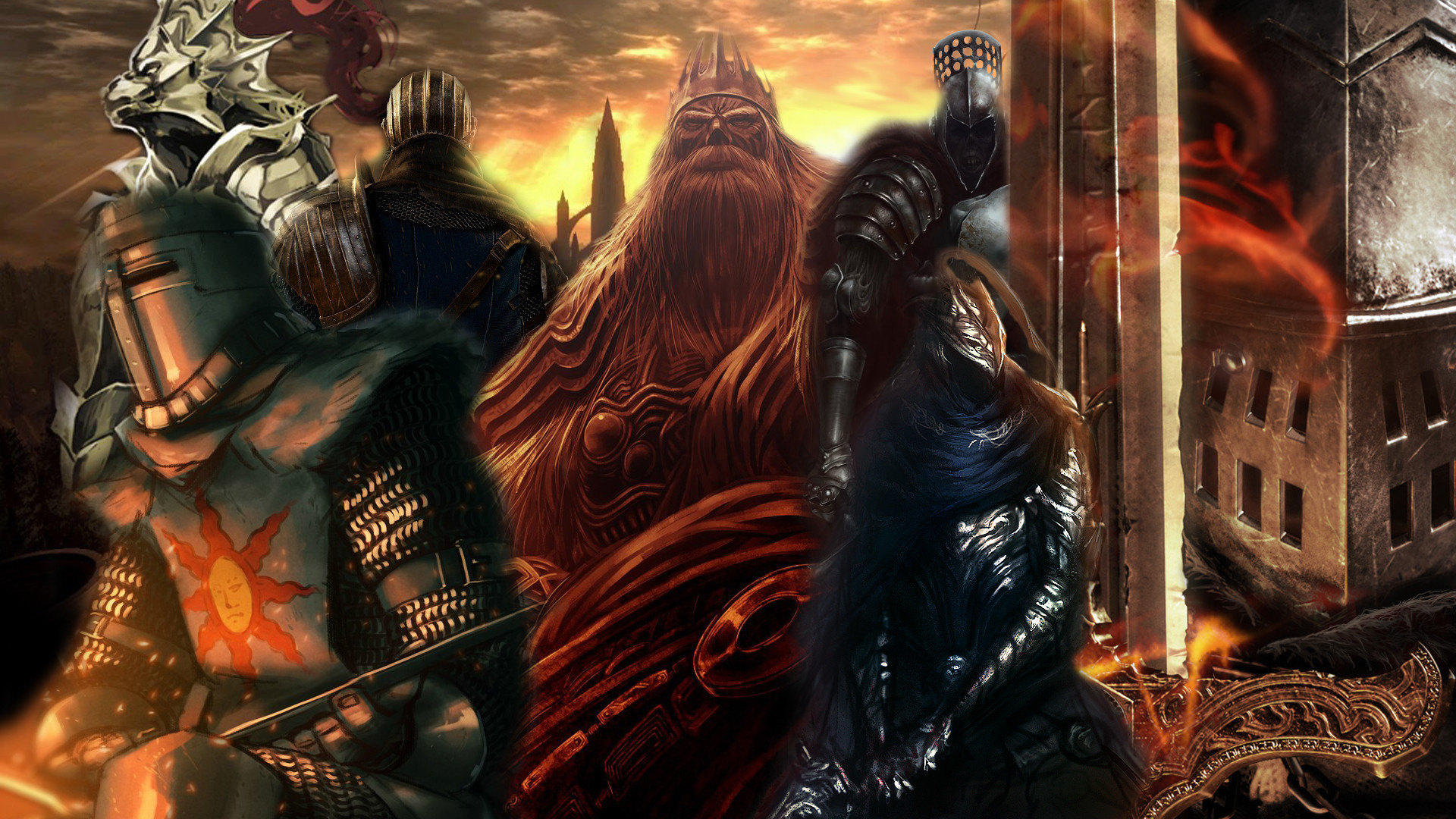 Created a Dark Souls Wallpaper out of my favorite fan arts / pictures [ 1920×1080] …