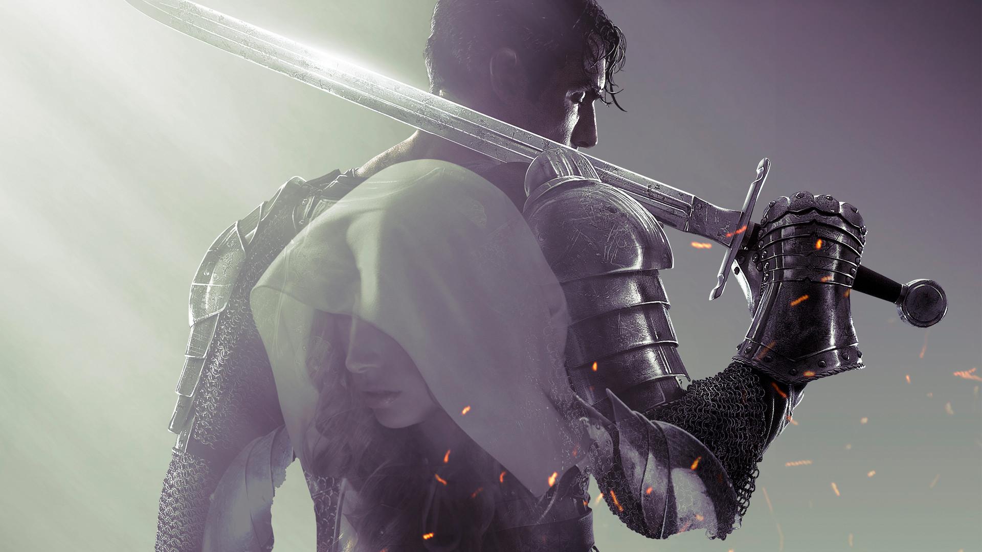 Wallpaper dark souls 2, knight, armor, sword