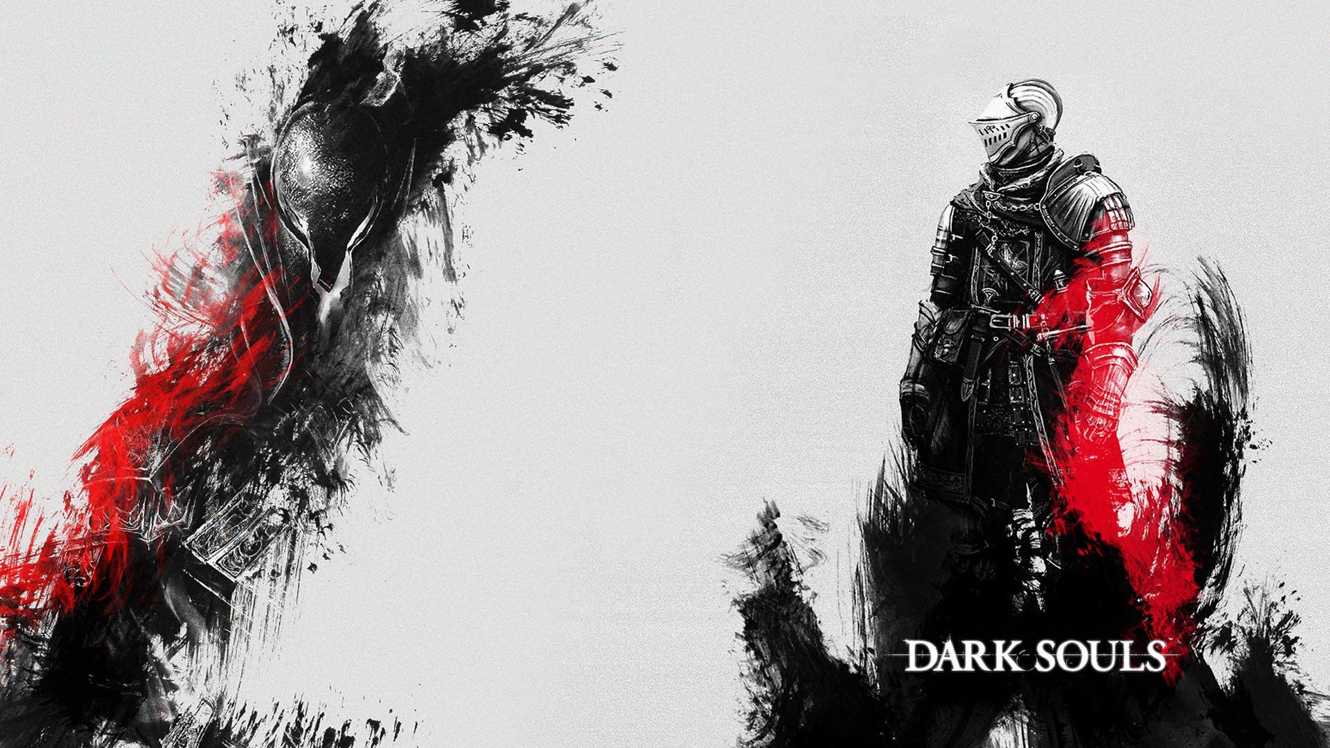 Dark Souls Red and Black Wallpaper