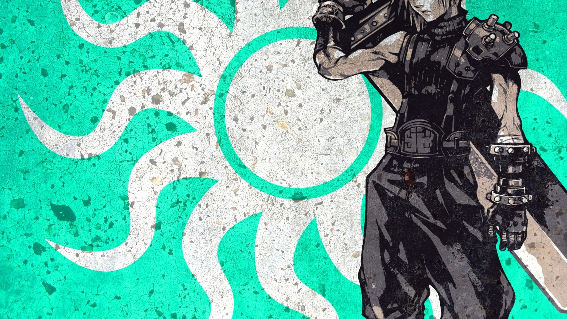 Wallpaper final fantasy, cloud strife, art