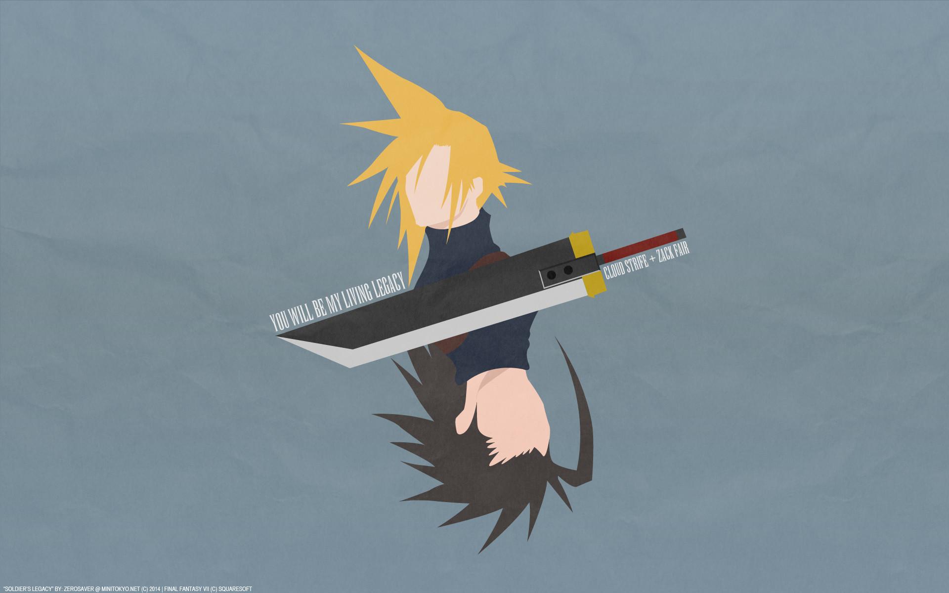 Final Fantasy VII Cloud Strife Zack Fair …