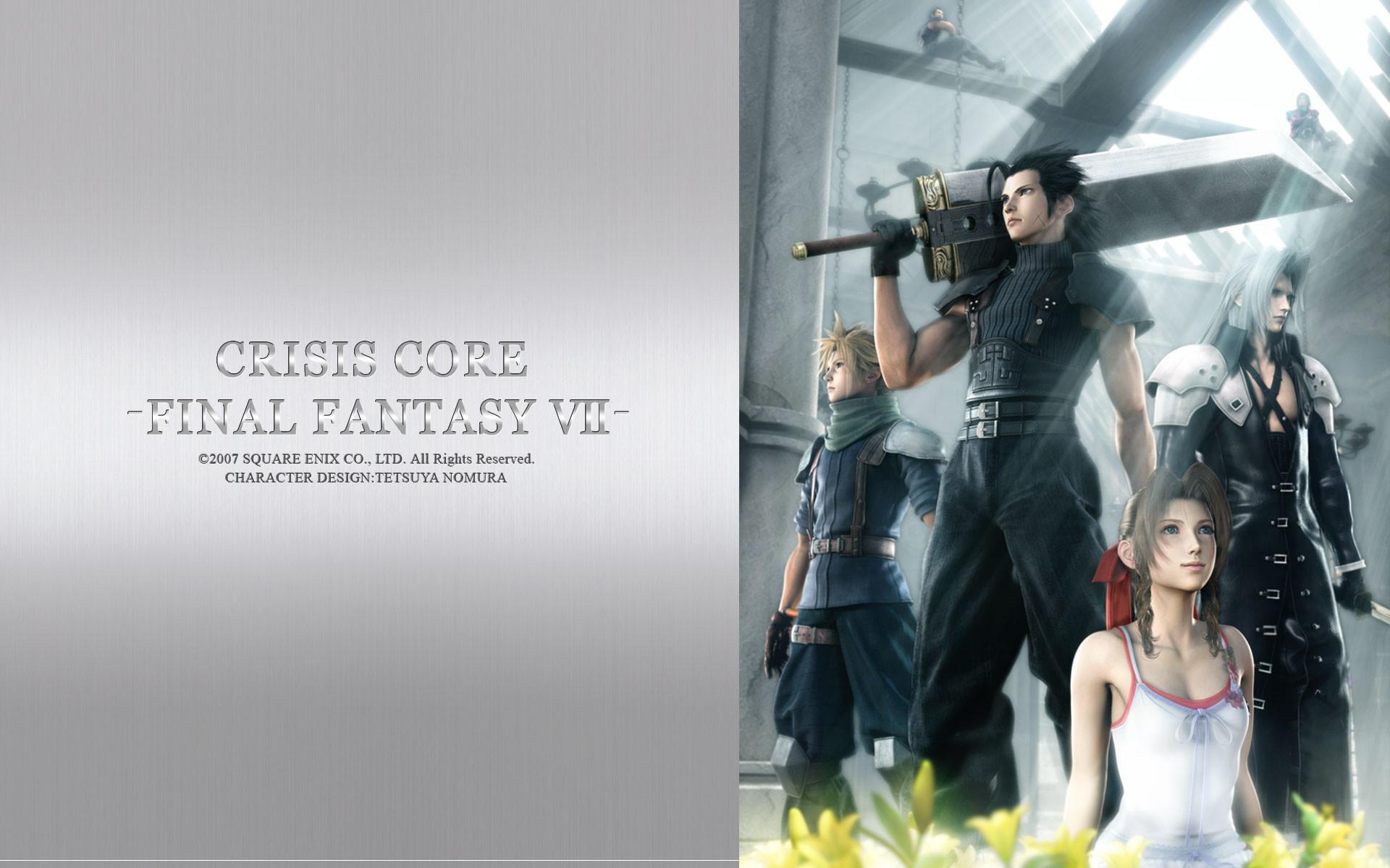 Final fantasy final fantasy vii sephiroth crisis core cloud strife zack  fair aerith gainsborough wallpaper