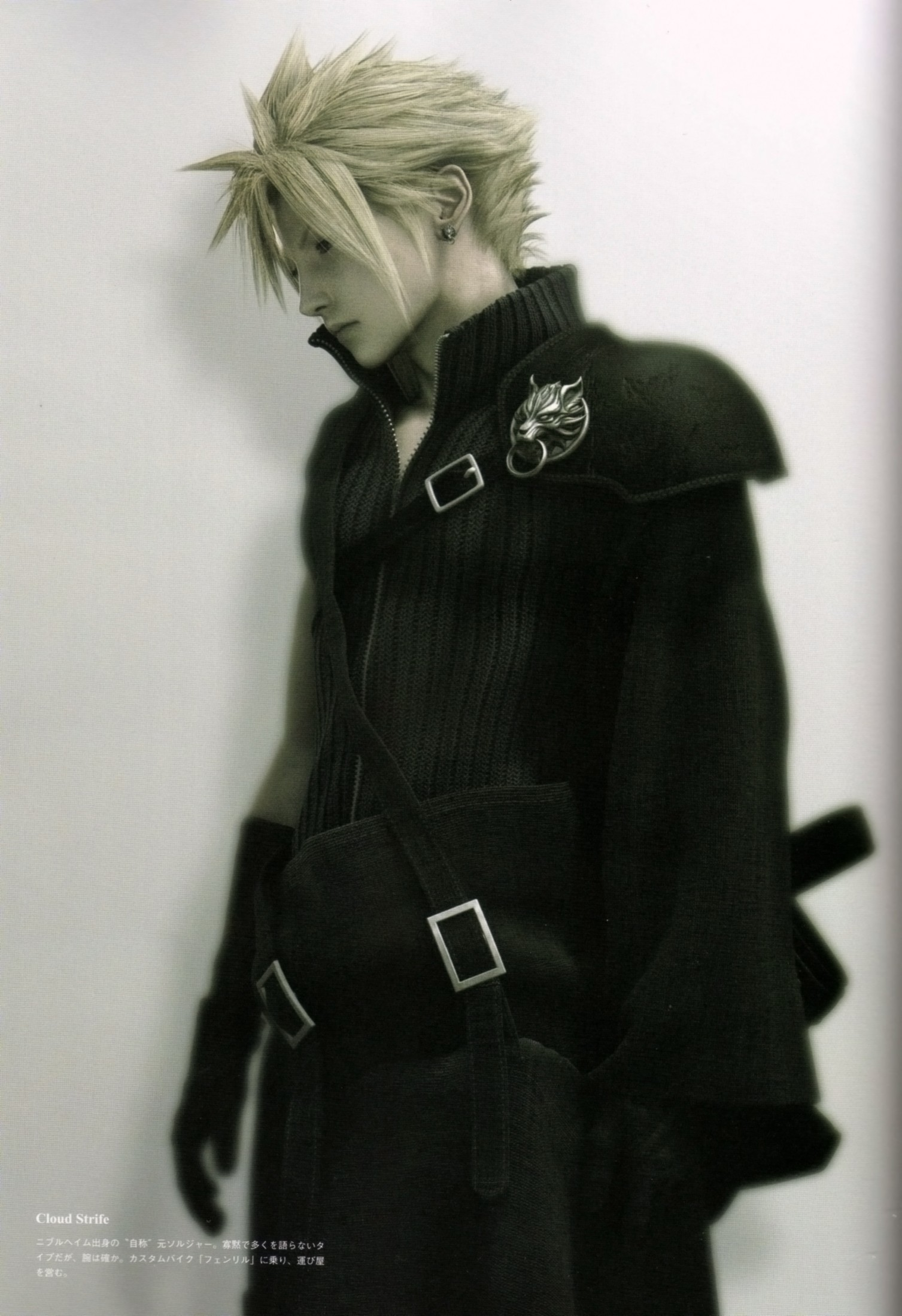 Tags: Anime, Nomura Tetsuya, Final Fantasy VII, Cloud Strife, Mobile  Wallpaper