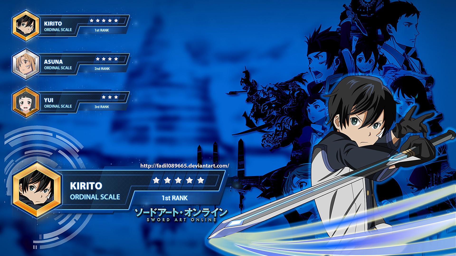 … Sword Art Online Wallpapers Desktop : Kirito by Fadil089665