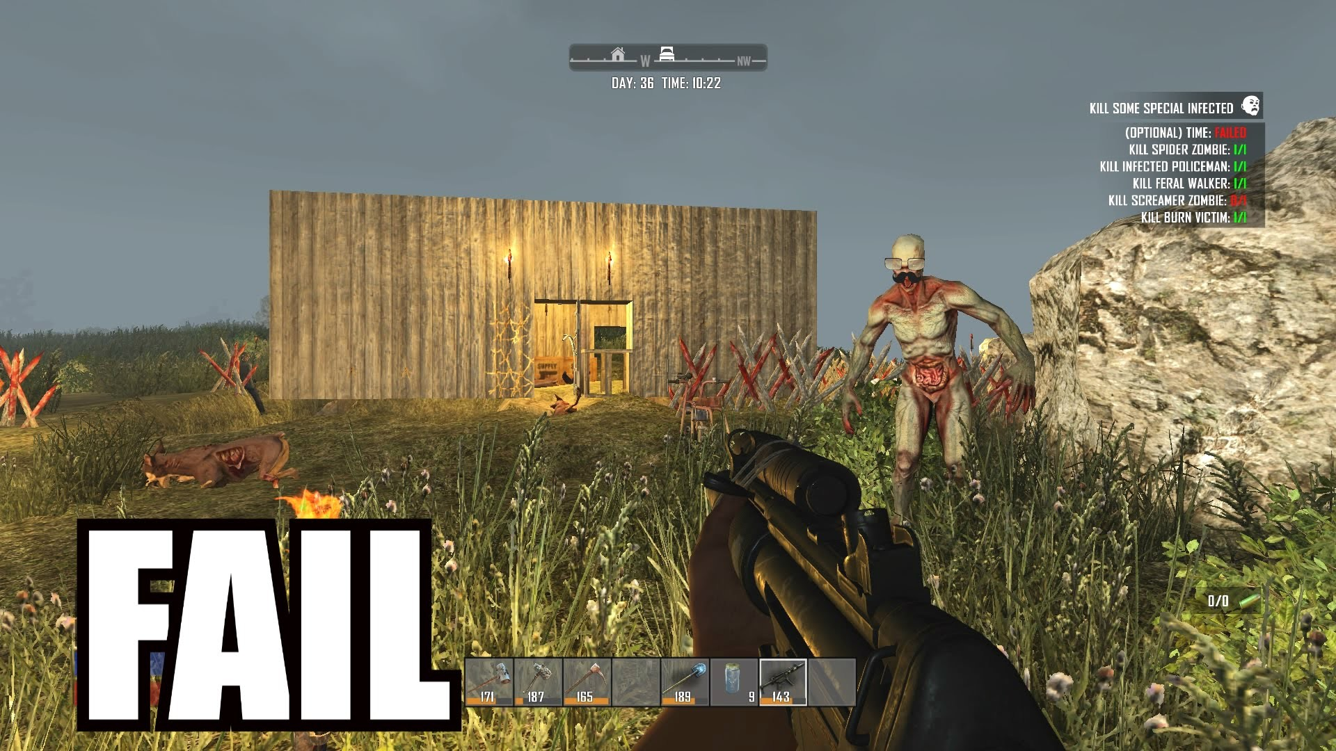 """7 Days to Die PS4 How to Fail on SOLO """"7 Day Horde Destroys My Base"""" – 7  Days to Die PS4 Gameplay – YouTube"""