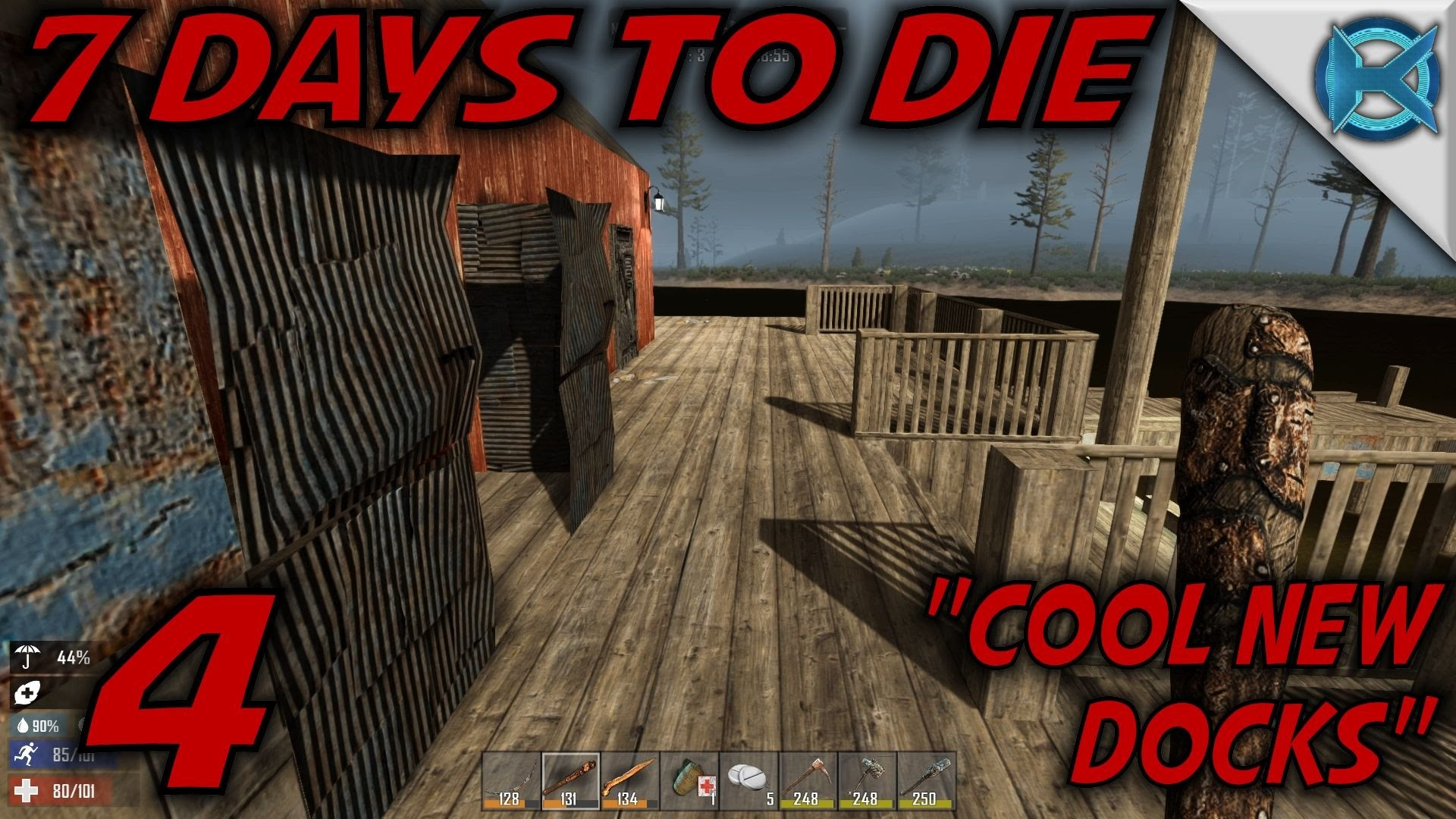 """7 Days to Die -Ep. 4- """"Cool New Docks"""" -Let's Play 7 Days to Die Gameplay-  Alpha 14 (S14) – YouTube"""