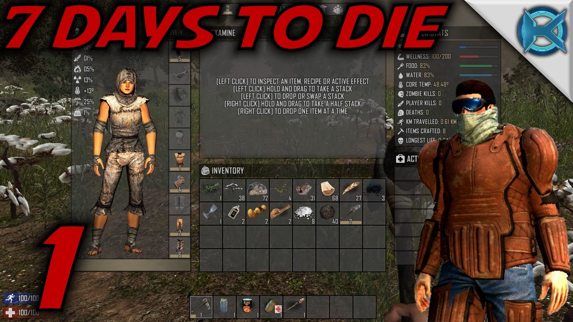 """7 Days to Die -Ep. 1- """"Alpha 13 Is Awesome"""" -(Giveaway Over) Gameplay /  Let's Play- Alpha 13 (S13) – YouTube"""