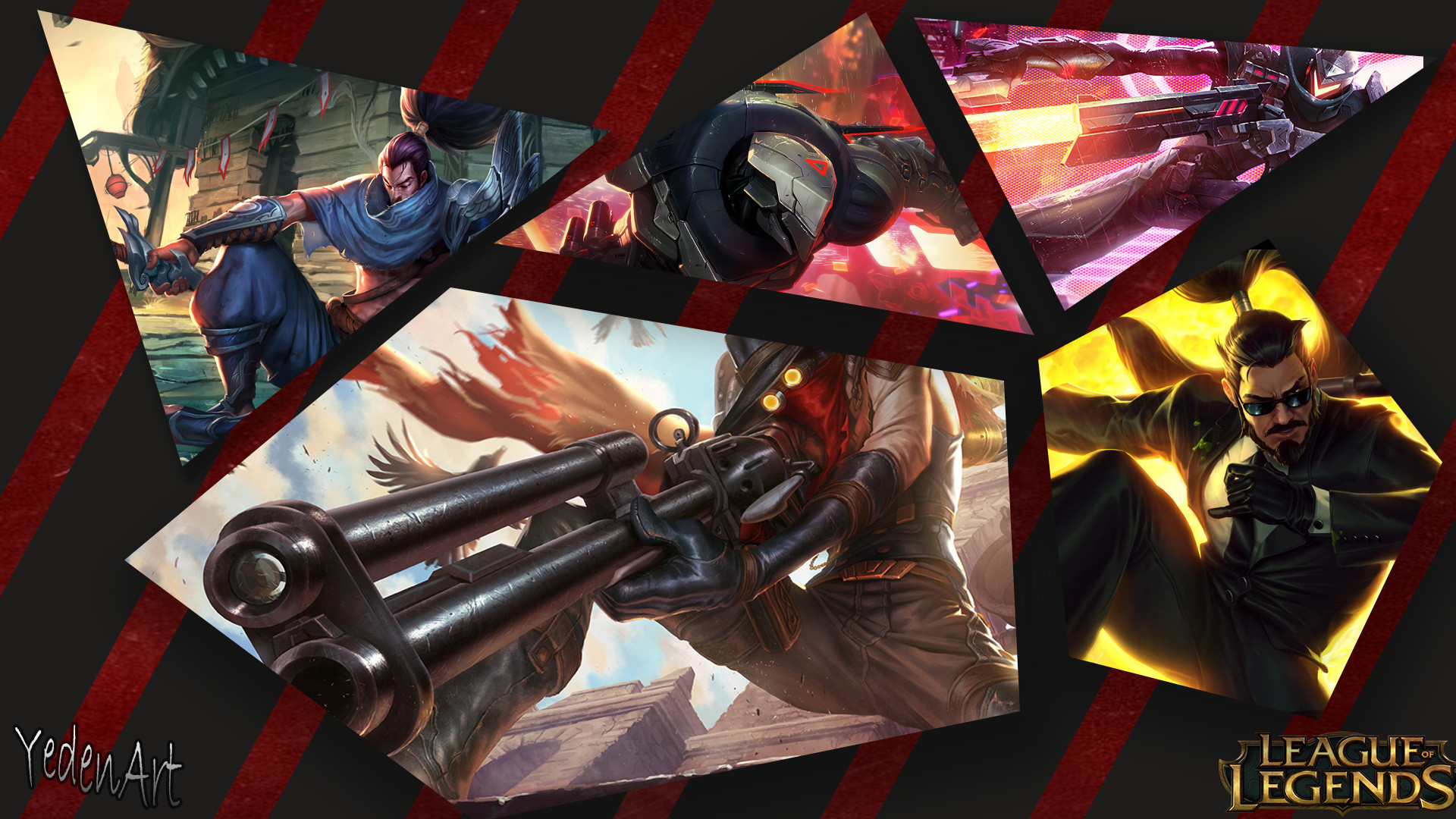 PROJECT Zed, Lucian, Yasuo, Secret Agent Xin Zhao & High Noon Jhin by