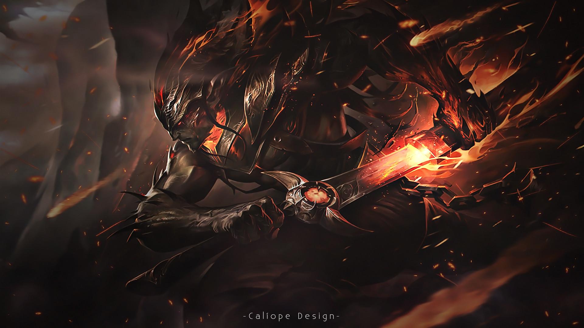 Nightbringer Yasuo by MissCaliope HD Wallpaper Background Fan Art Artwork  League of Legends lol