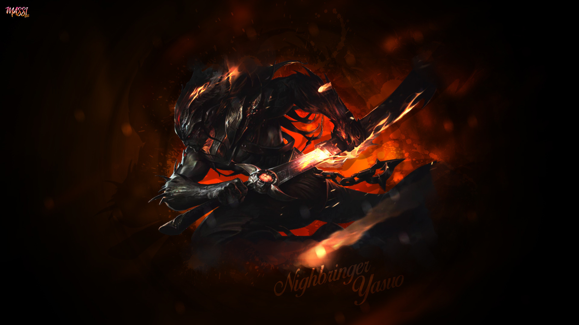 Nightbringer Yasuo by Massi001 HD Wallpaper Background Official Artwork  League of Legends lol