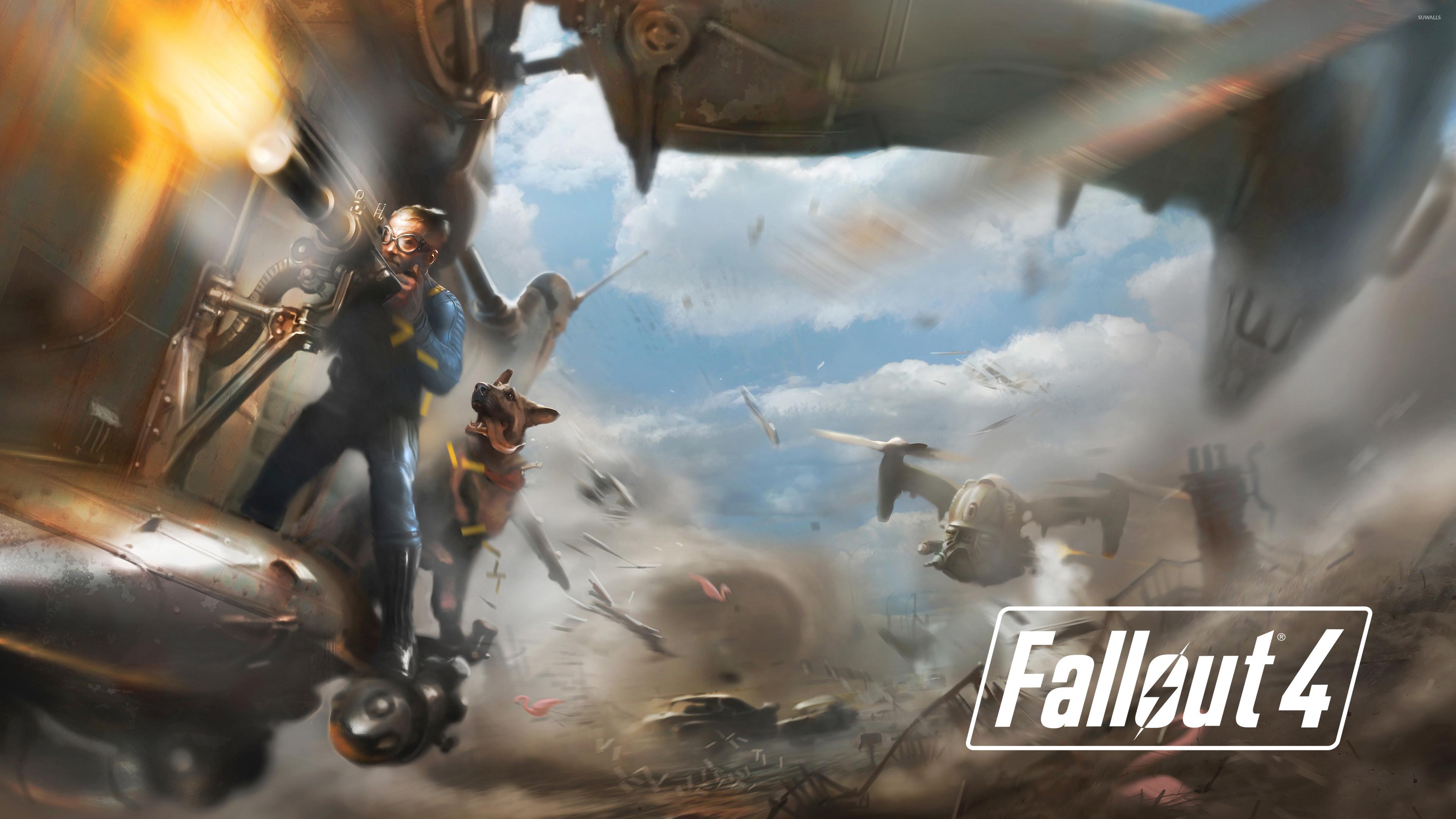 Battle in Fallout 4 wallpaper jpg