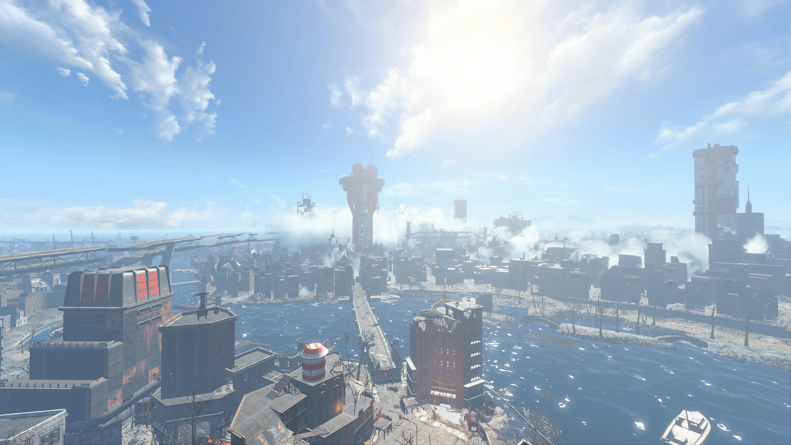 view from the top of Cambridge (Fallout 4) …