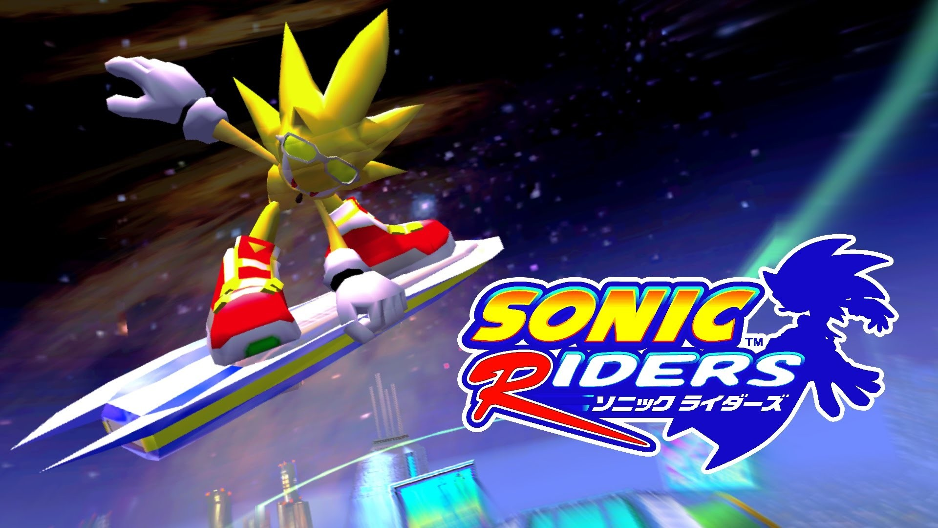 Sonic Riders Night Chase Super Sonic [REAL Full HD Widescreen