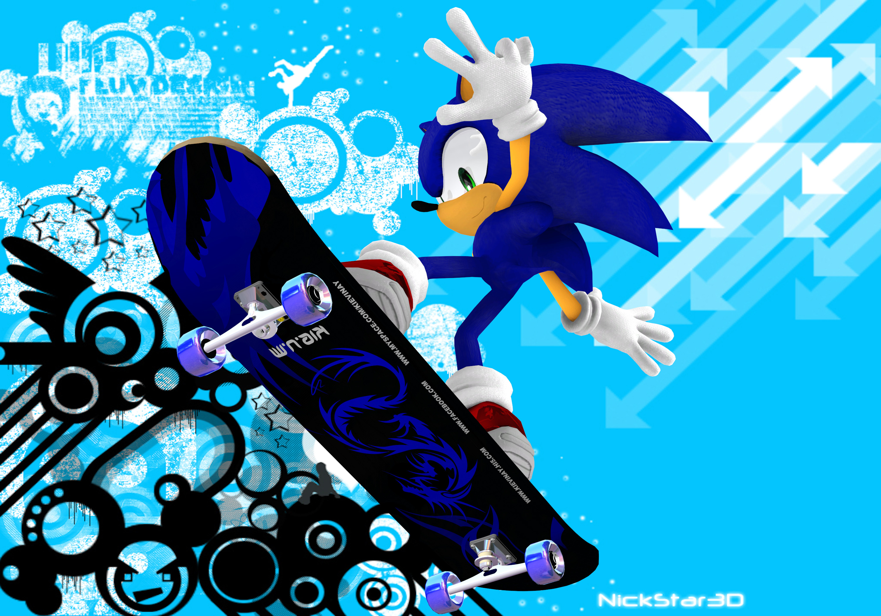 stay cool with Sonic and Shadow images modern skating HD wallpaper and  background photos