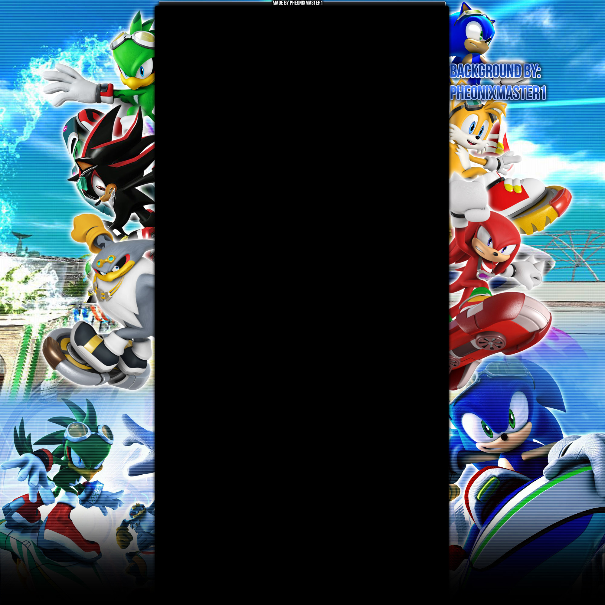 Sonic Riders Youtube background by Pheonixmaster1 Sonic Riders Youtube  background by Pheonixmaster1