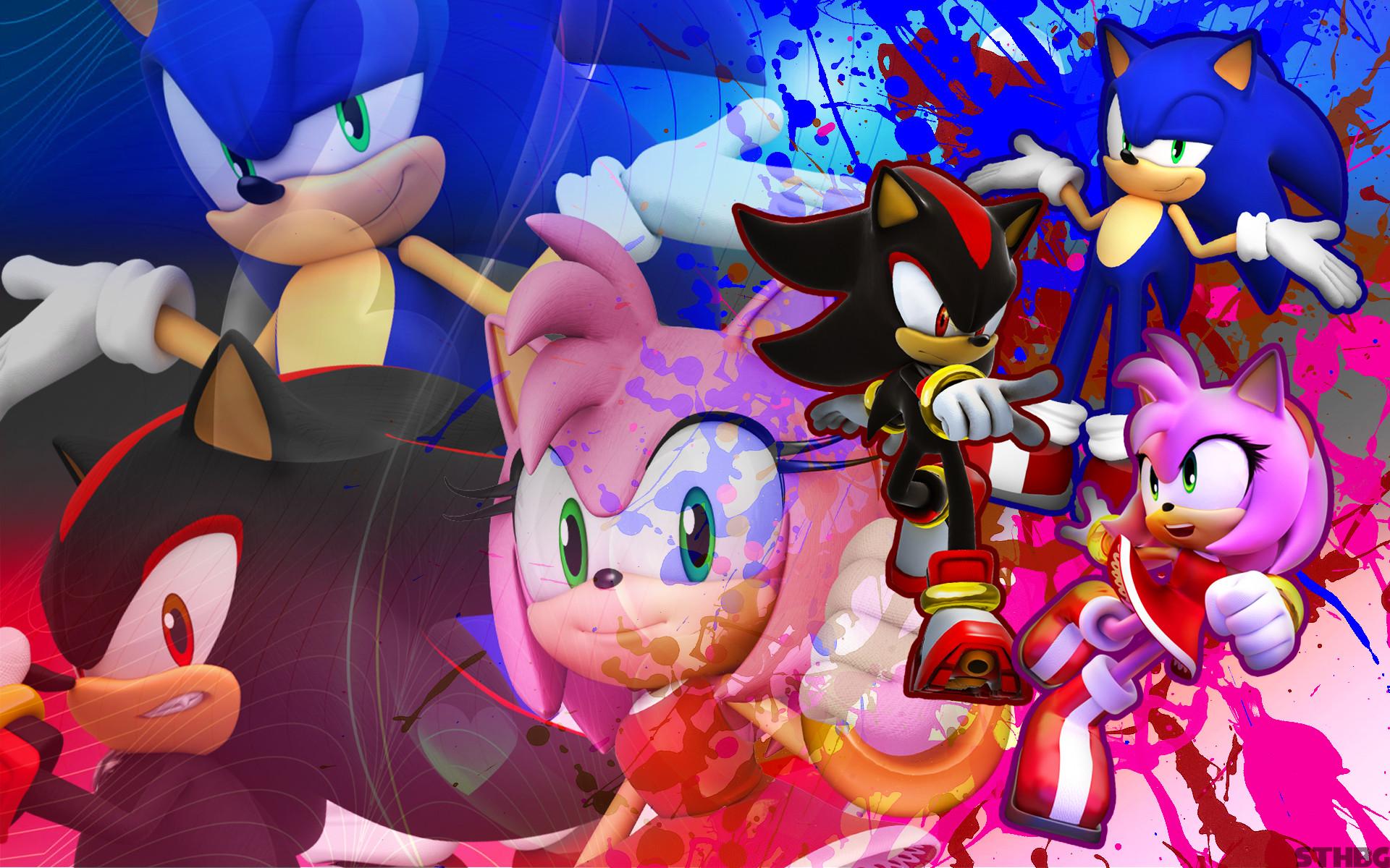 … SonicTheHedgehogBG Sonic, Shadow, And Amy – Wallpaper by  SonicTheHedgehogBG