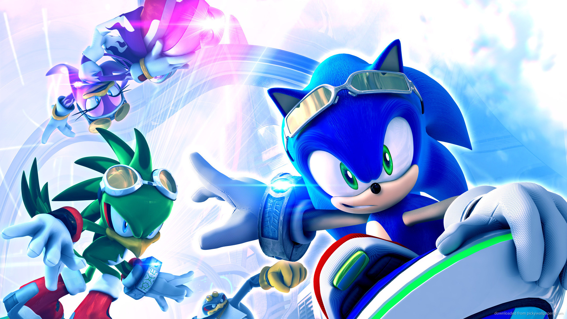Sonic The Hedgehog On The Board picture