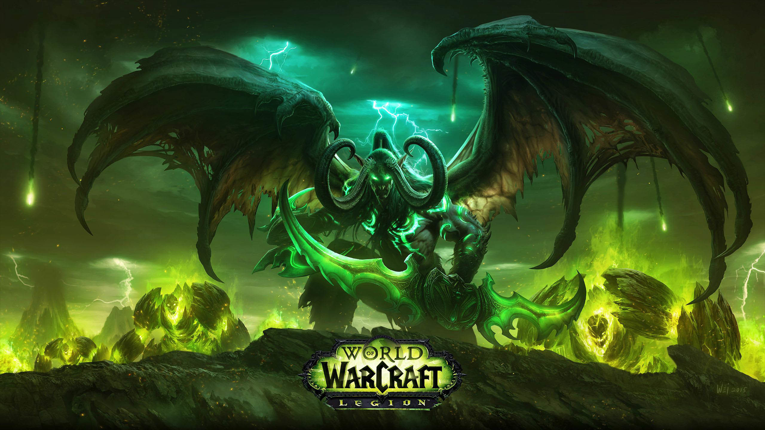WoW Legion – Illidan Stormrage the Demon Hunter wallpaper