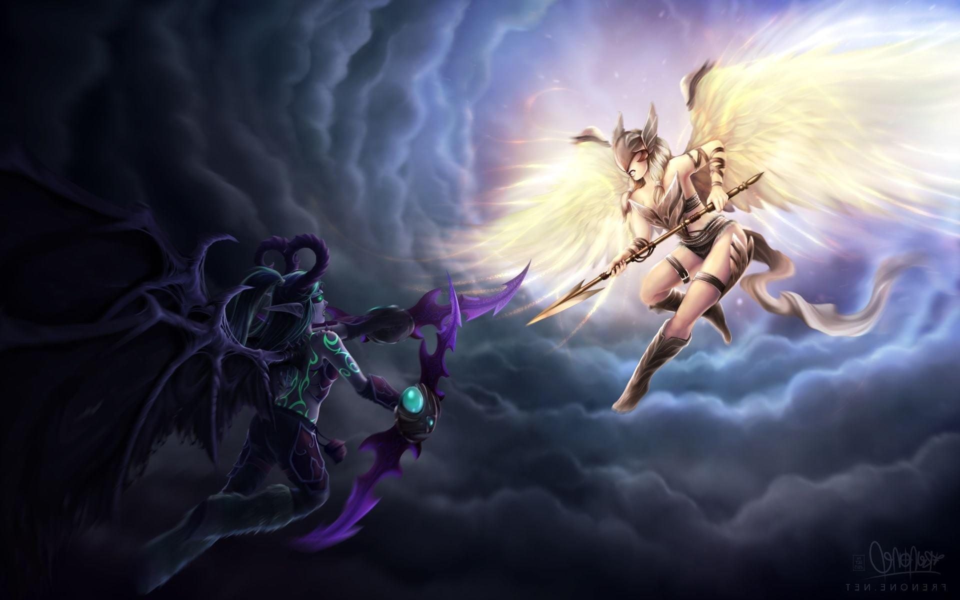 Wallpaper of Demon Hunter World of Warcraft Legion