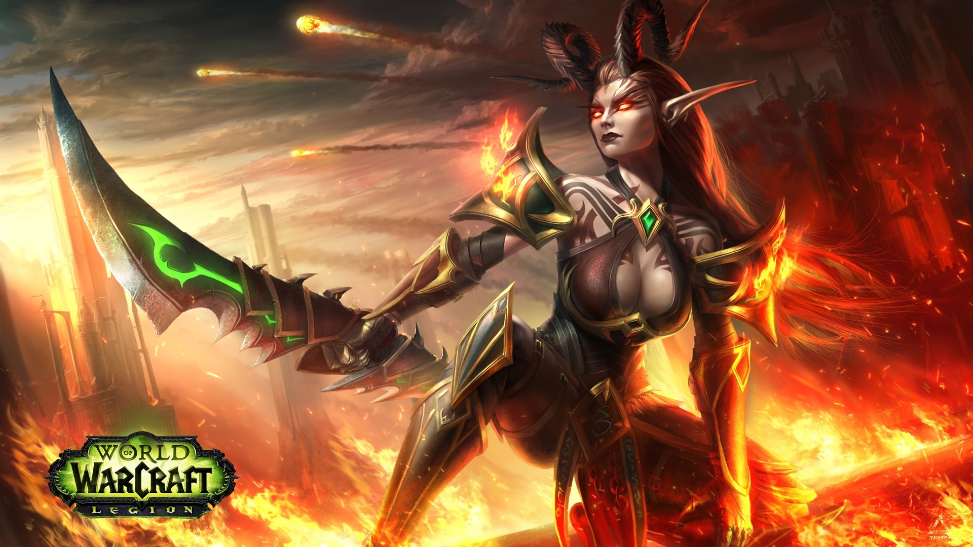 Demon Hunter, World of Warcraft, World of Warcraft: Legion, Fantasy girl,  Video games Wallpapers HD / Desktop and Mobile Backgrounds