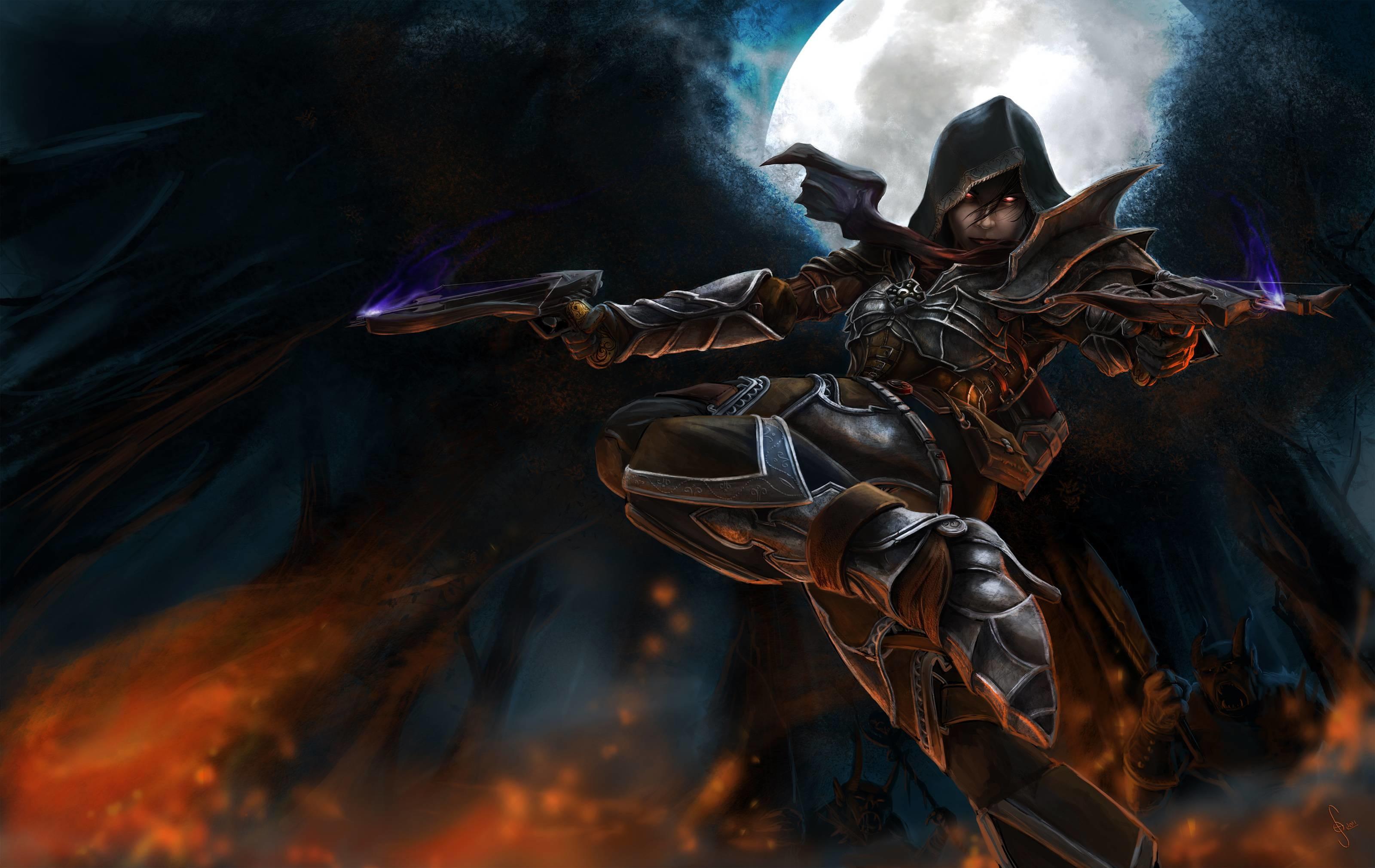 Diablo Demon Hunter Wallpaper Hdtv 3200x2021PX ~ Wallpaper Demon .