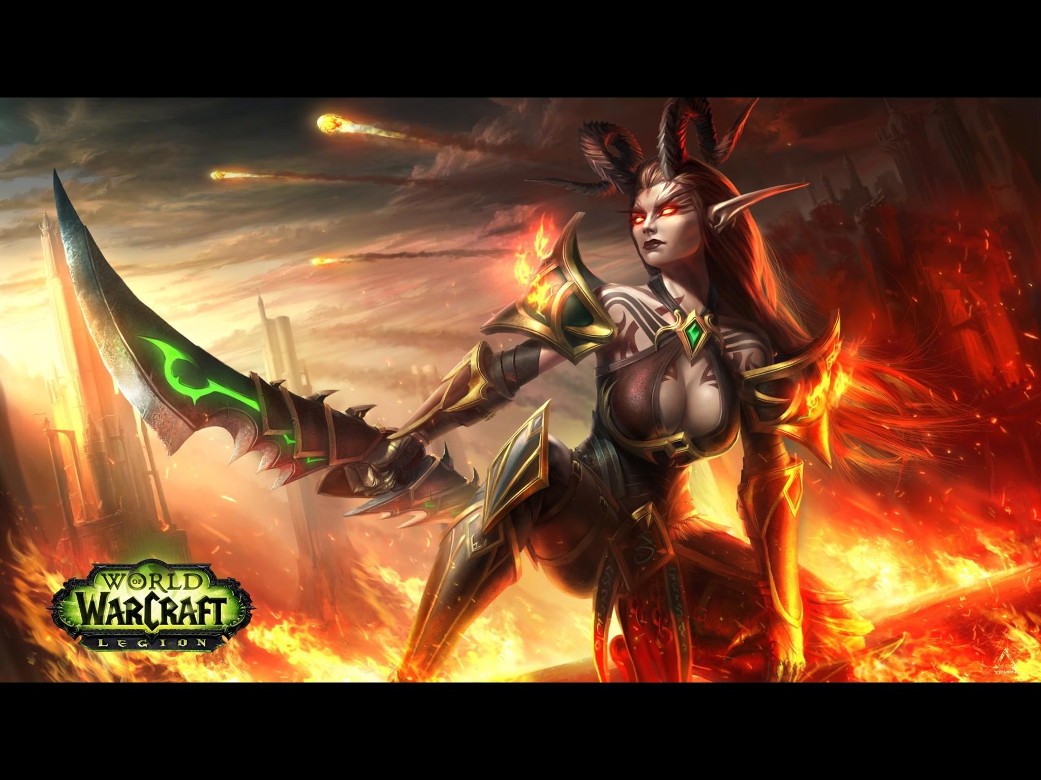 Demon Hunter Blood Elf – Standard Wallpaper