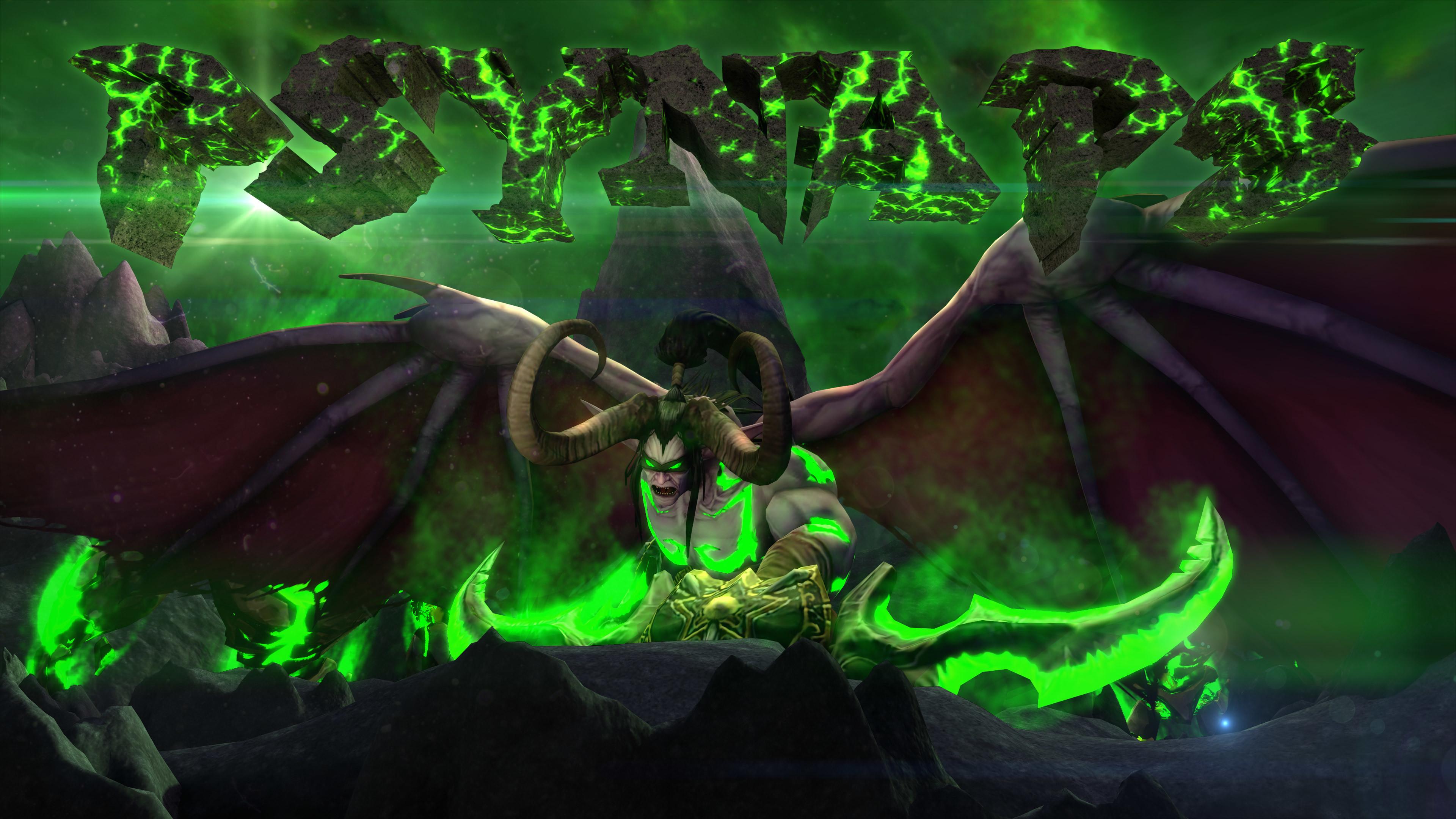 WoW Legion Illidan Custom Intro and 4K Wallpaper