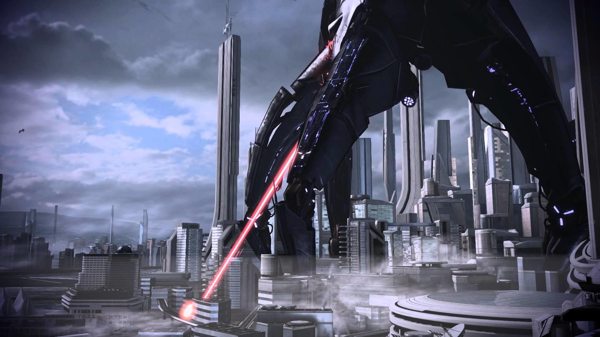 Mass Effect 3 Earth Vancouver Reaper Dreamscene Video Wallpaper – YouTube