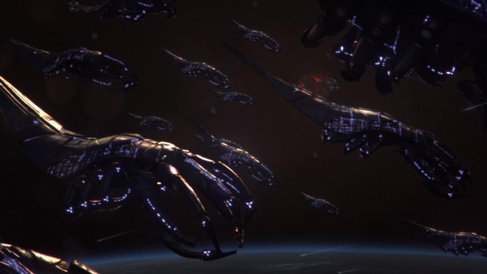 Cgi earth mass effect 3 fantasy art reapers wallpaper