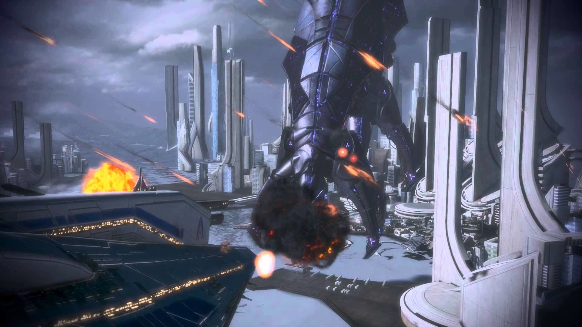 Mass Effect 3 Reaper vs. Dreadnaught 1 Dreamscene Video Wallpaper – YouTube