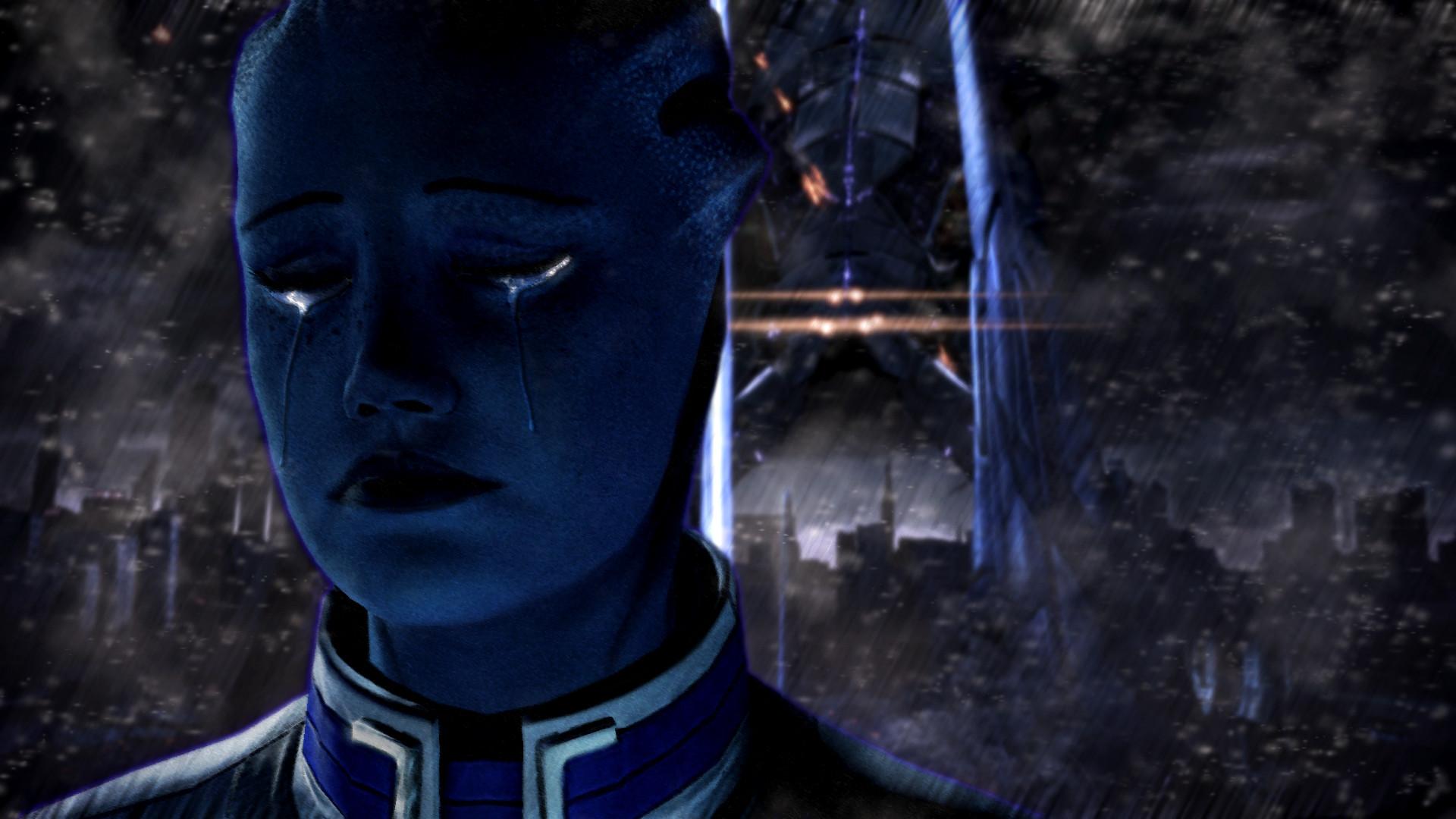 … ReaperOfEternity Sad Liara Mass Effect 3 by ReaperOfEternity