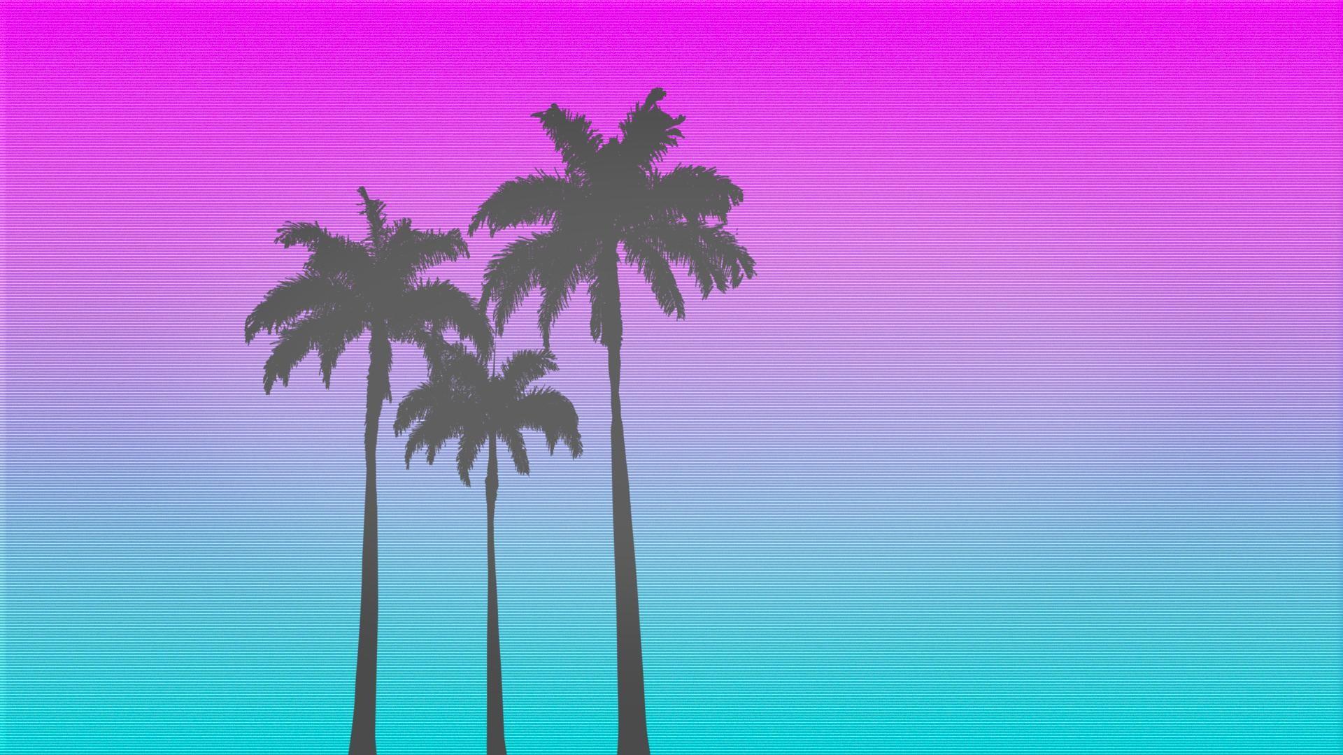 ARTI made a simplistic Hotline Miami inspired wallpaper …
