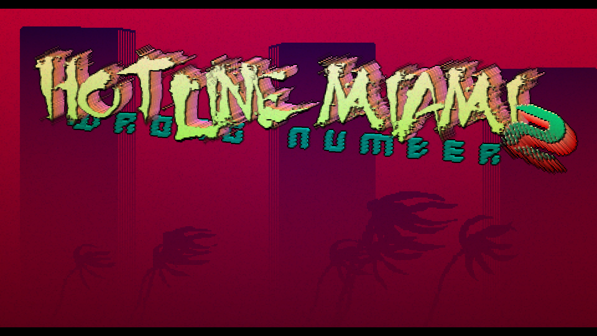 Hotline Miami 2 menu screen without the actual menu, just thought someone  might want to use it as a wallpaper.