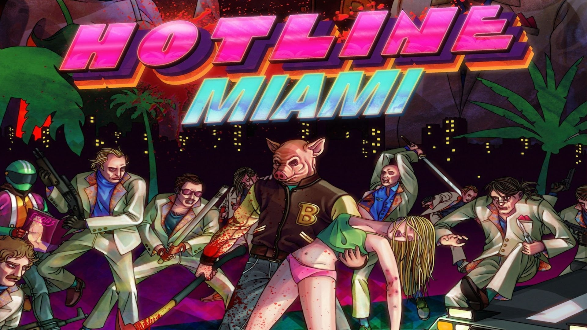 HOTLINE-MIAMI action shooter fighting hotline miami payday wallpaper |  | 547976 | WallpaperUP