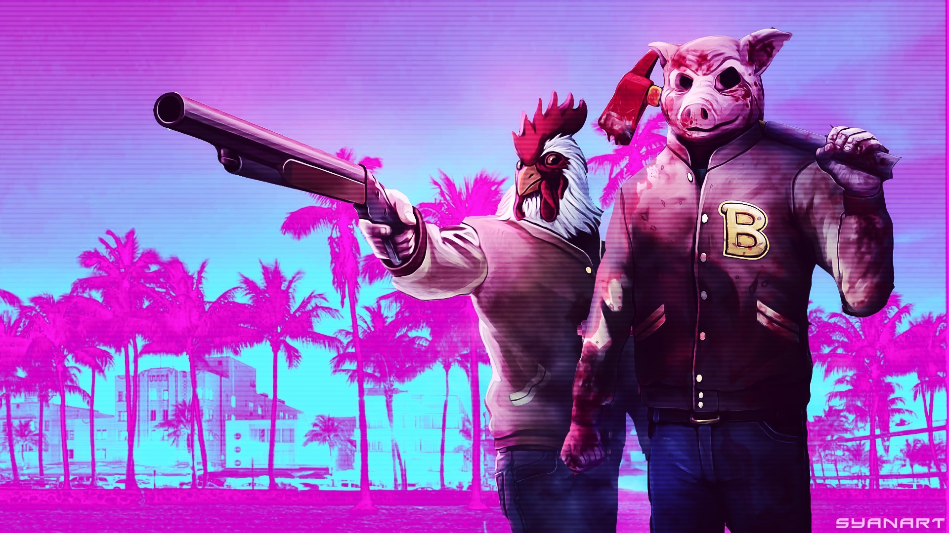 #1968701, Backgrounds In High Quality – hotline miami pic