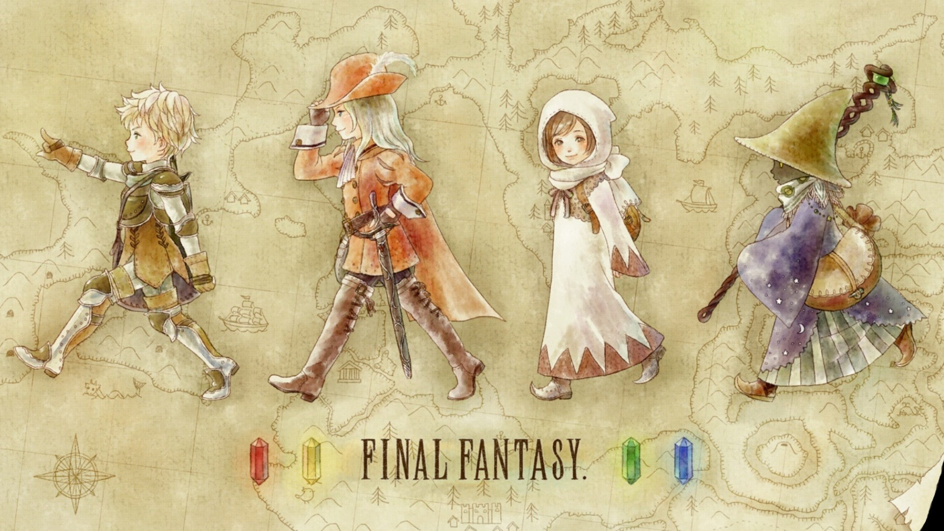 wallpaper Final Fantasy · video games · white mage · Black Mage