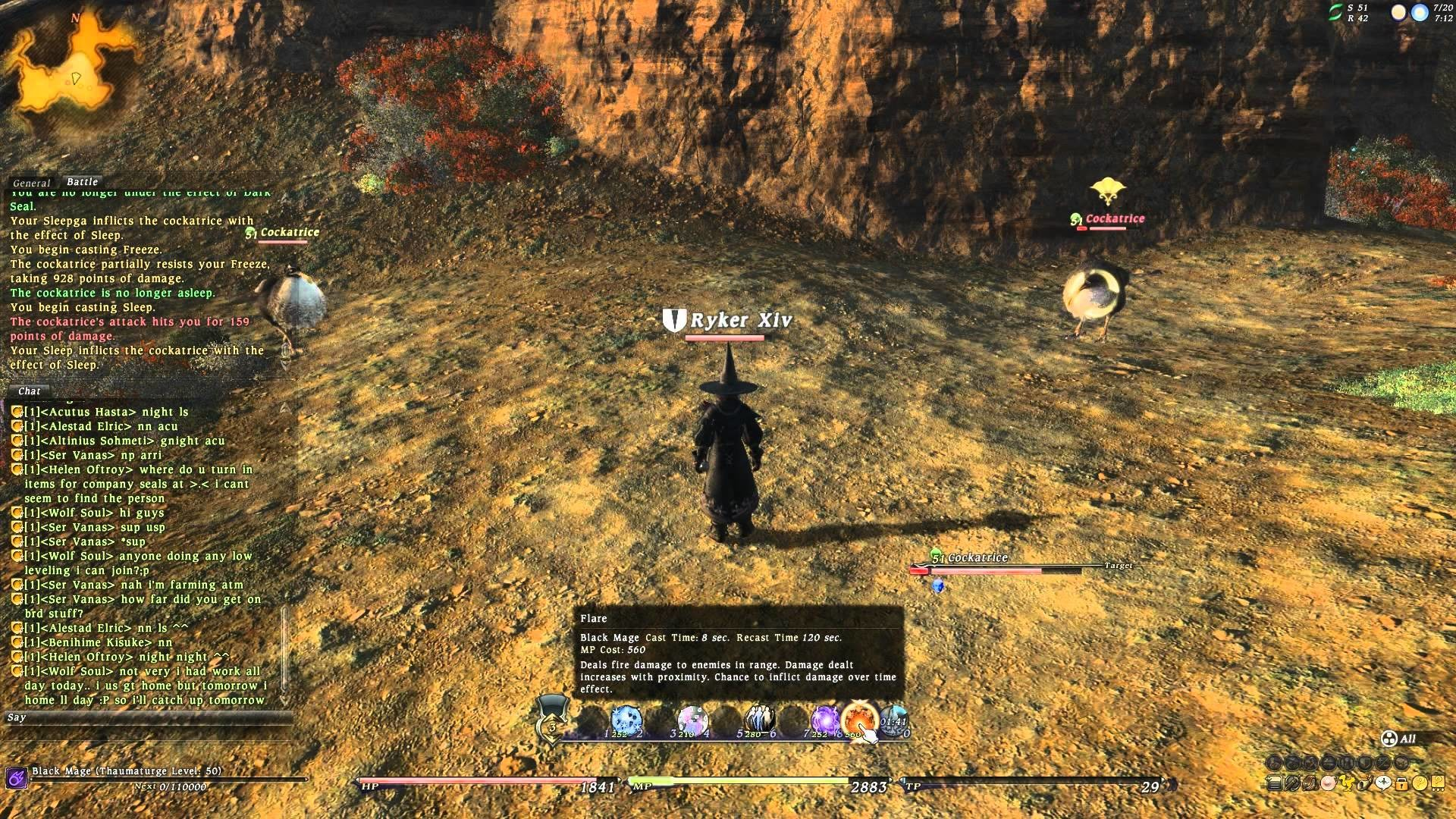 [OUTDATED: PRE 2.0 RELEASE] Final Fantasy XIV – Black Mage Artifact gear  and abilities (patch 1.21)