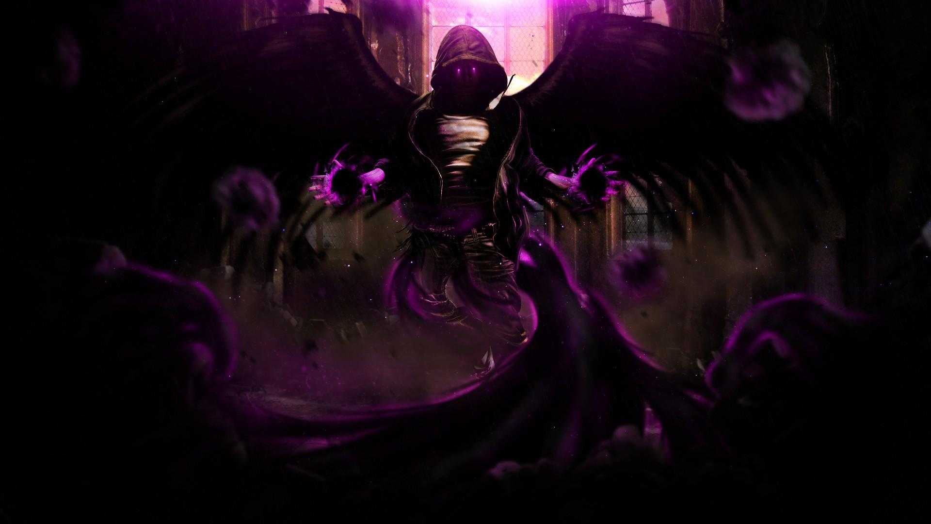 Black Mage Fantasy Art Magic Purple Sorcerer