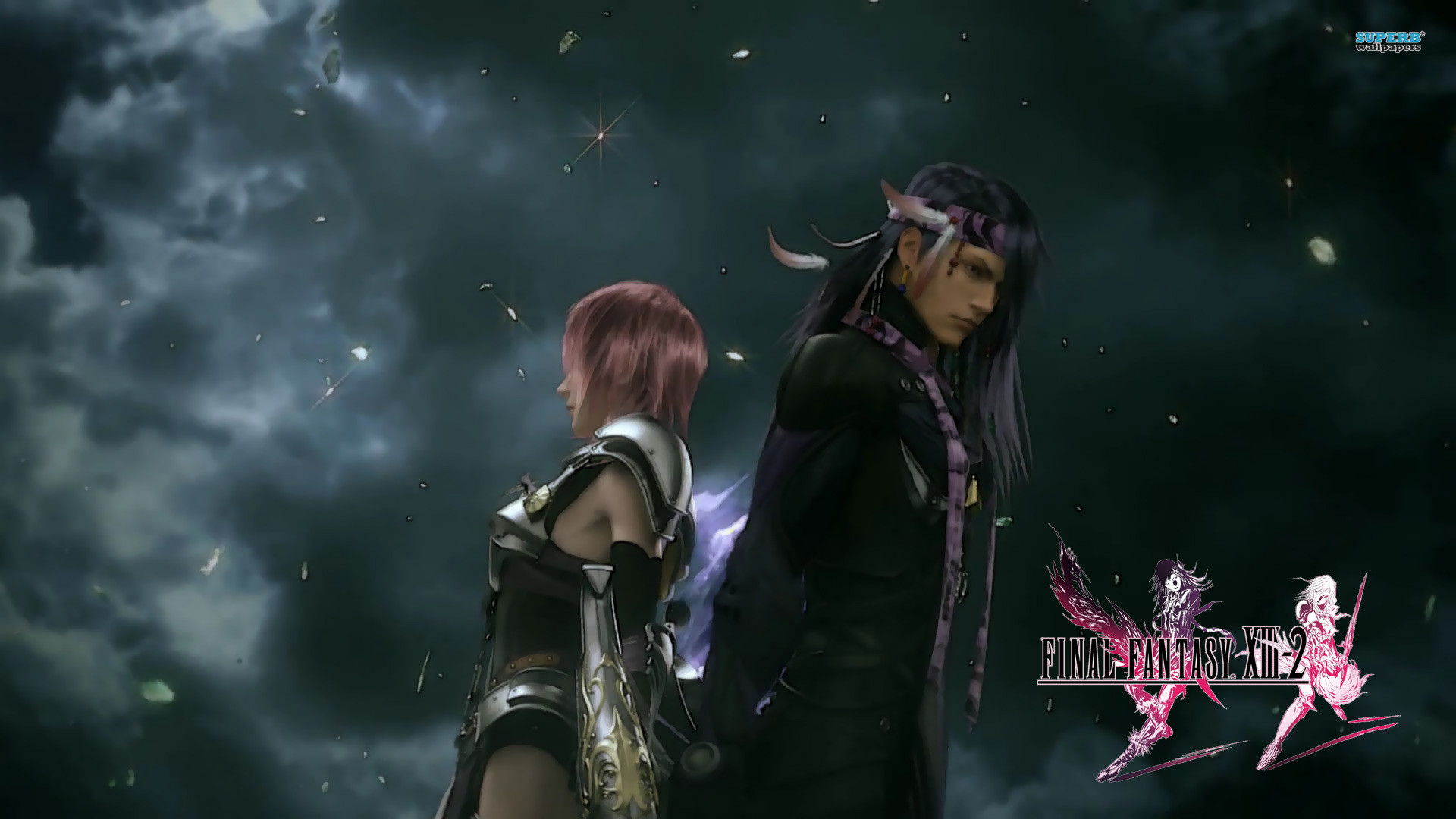 Lightning and Caius – Final Fantasy wallpaper