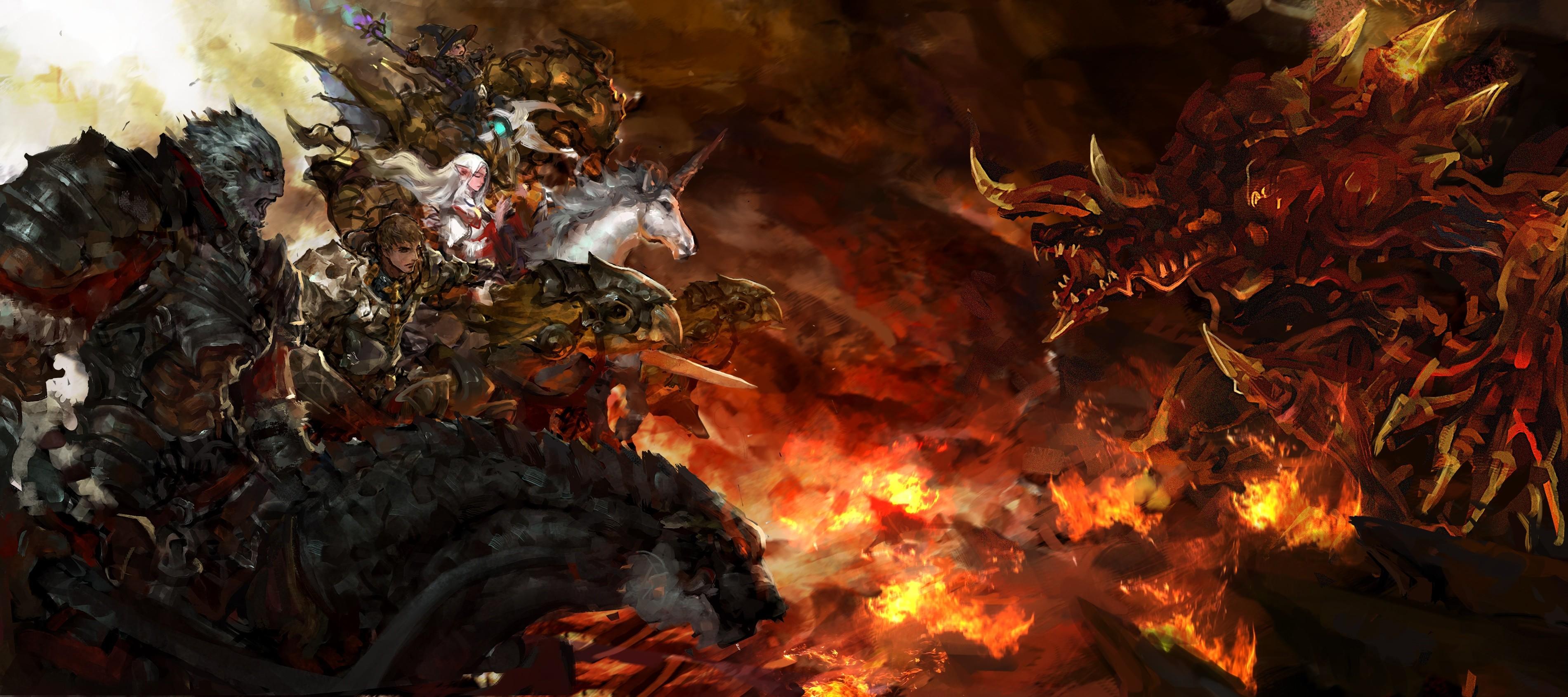 Final Fantasy XIV: A Realm Reborn Fanart: Ifrit and Odin – 2P.com