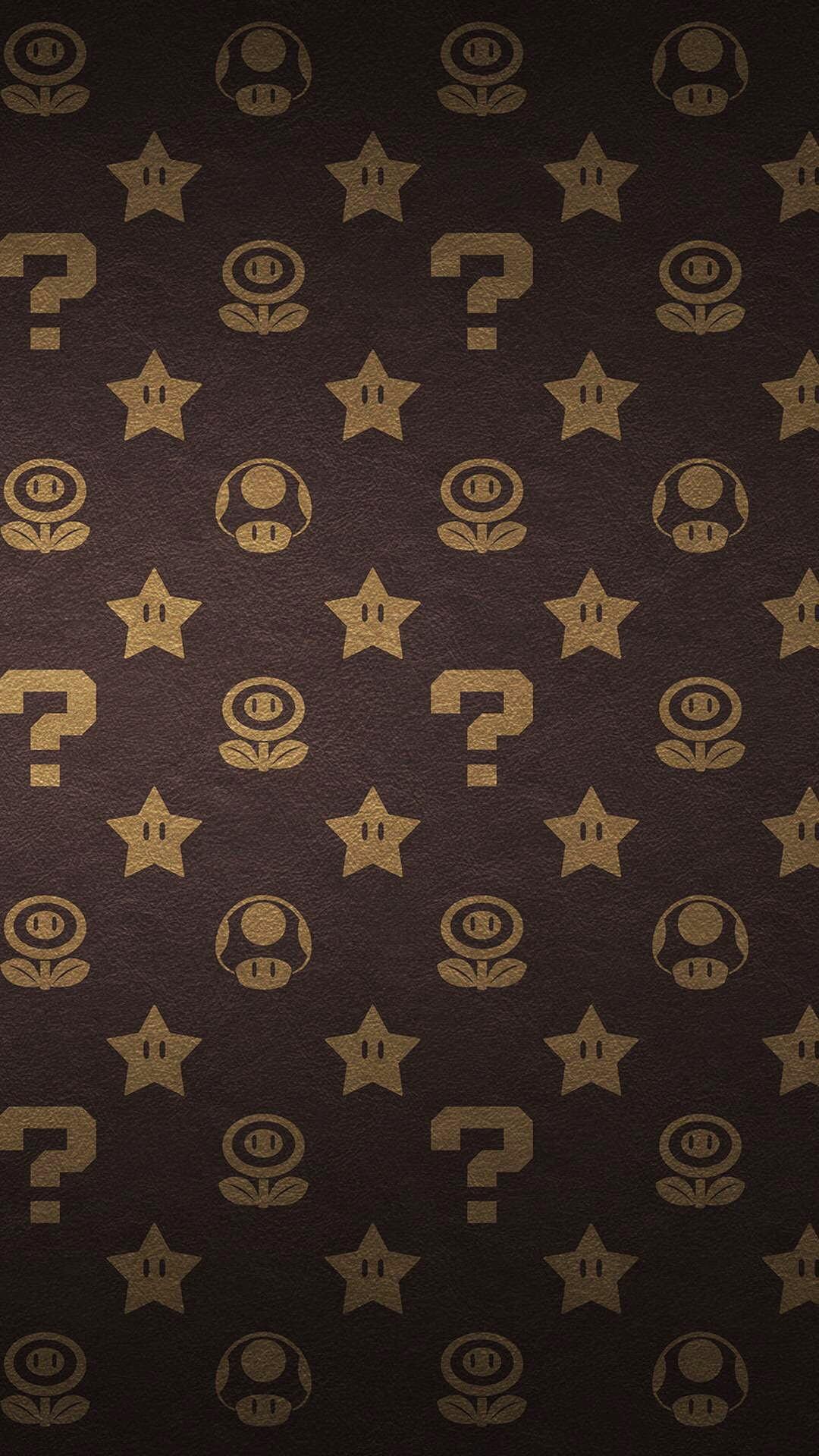 Super Mario brothers Louis Vuitton print pattern
