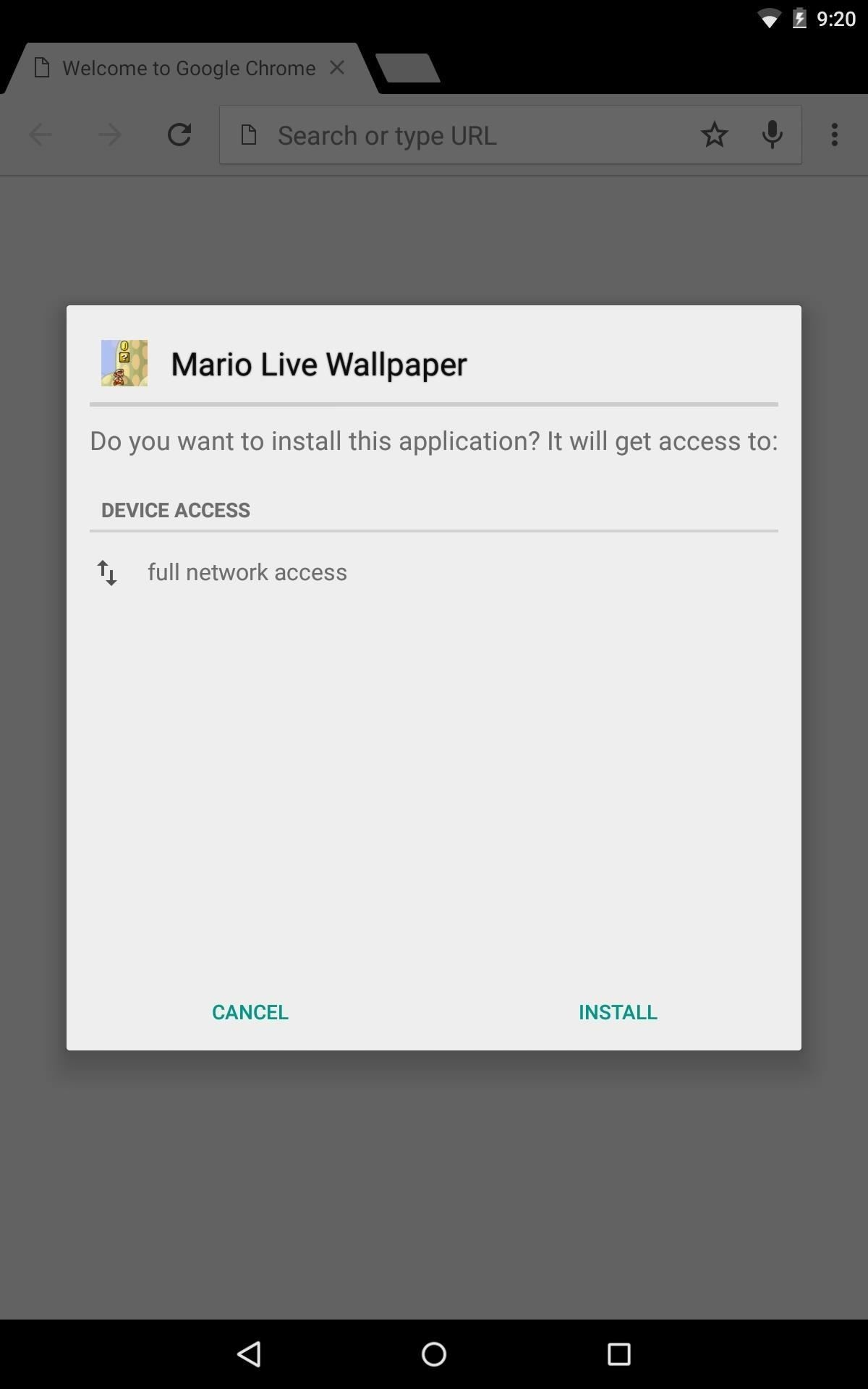 """Since this is just a live wallpaper, you can't open it directly after  installation, so hit """"Done"""" and go to the next step."""